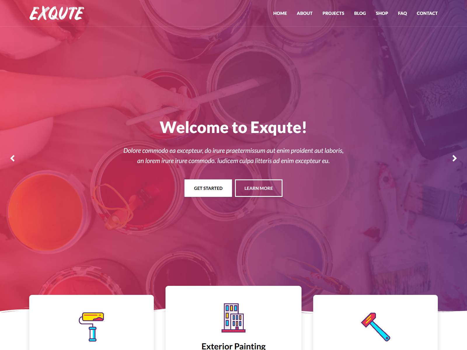 Exqute - Painting Company WordPress Theme