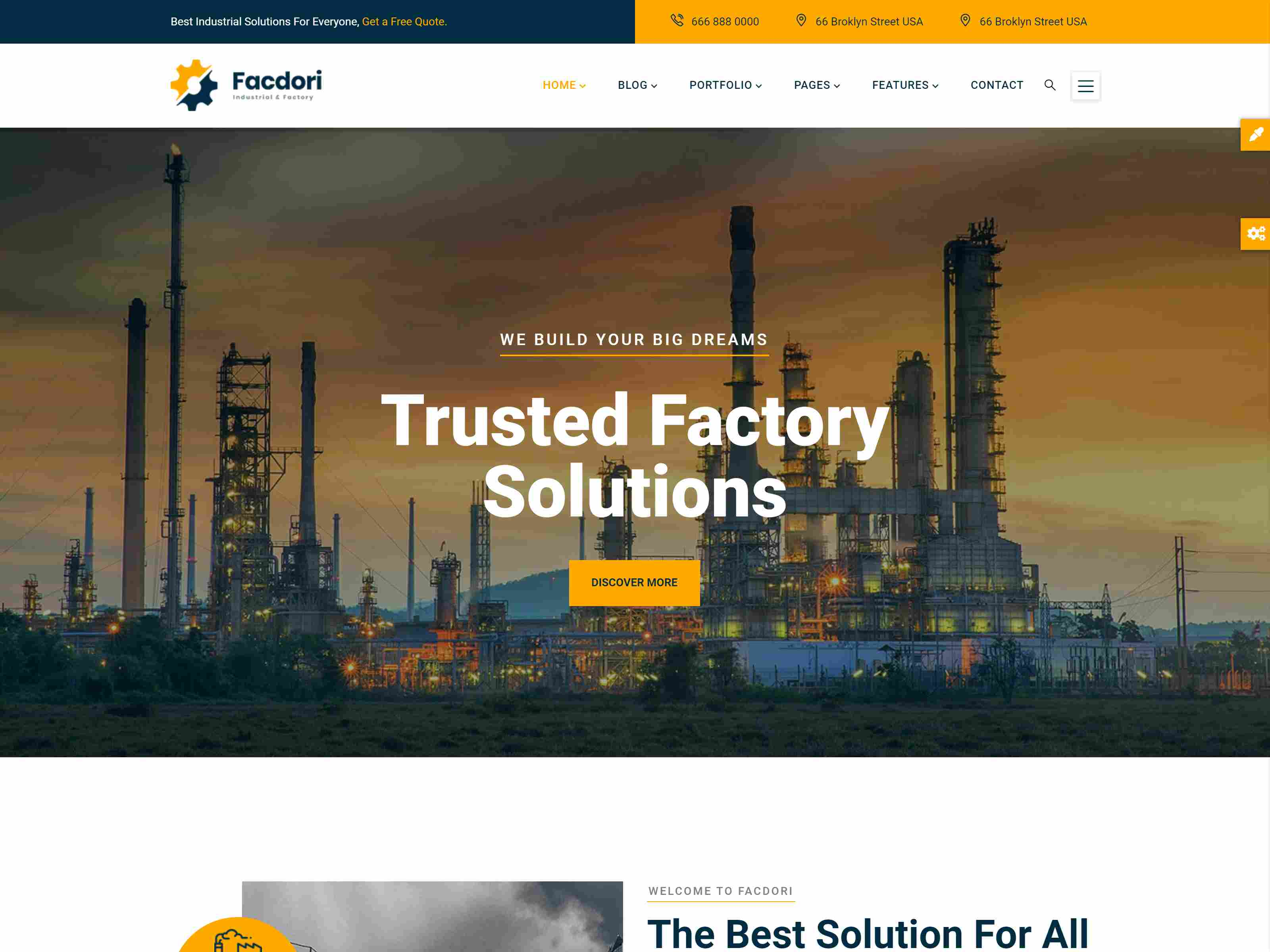 Facdori - Industrial & Factory Business Drupal 8.8 Theme