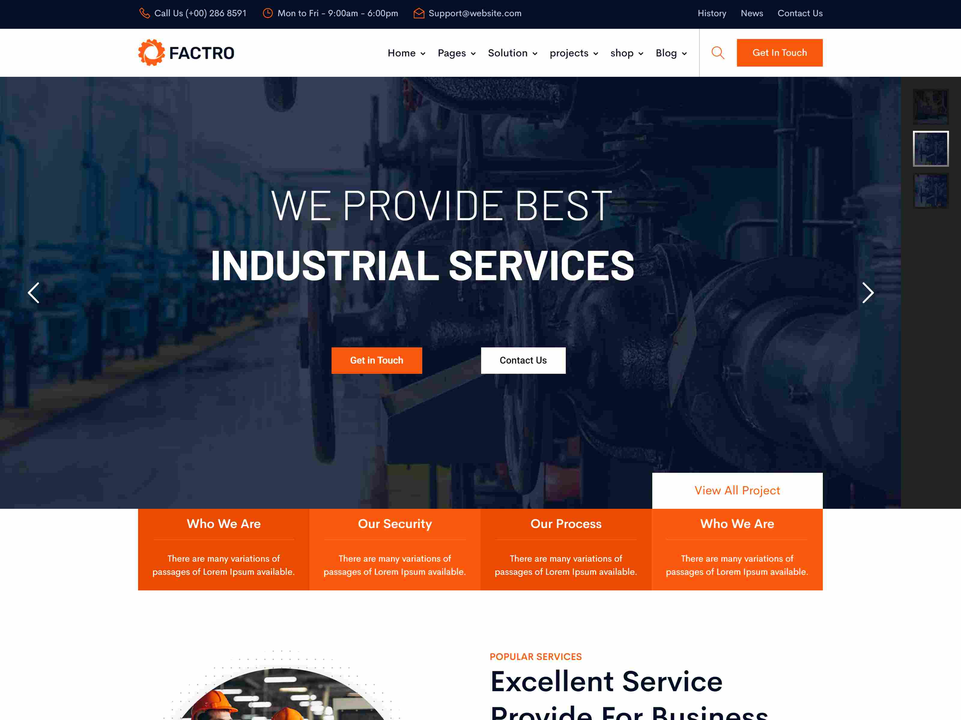 Factro - Industrial & Factory Business Drupal 8.8 Theme