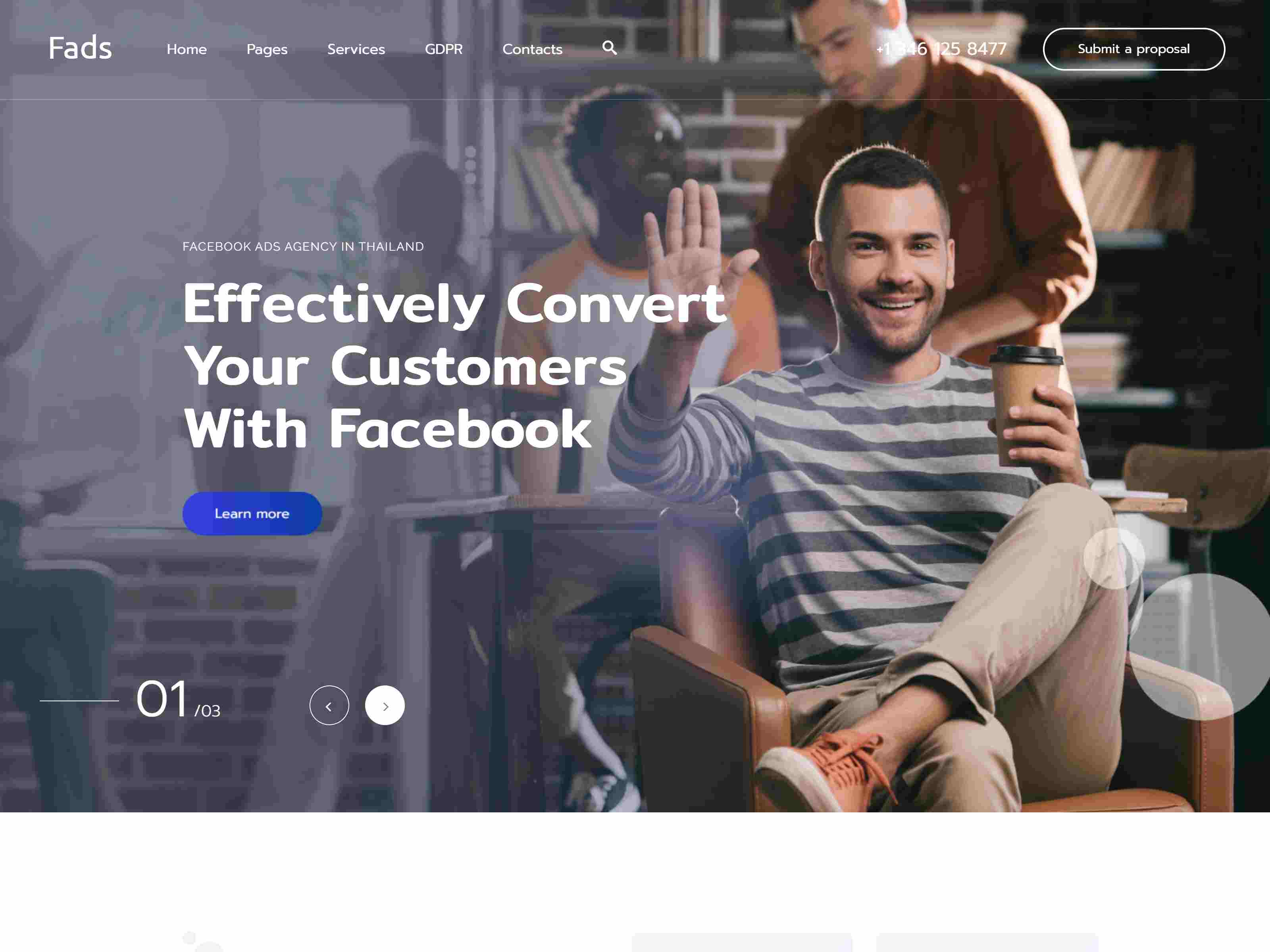 Fads - Business Agency WordPress Theme