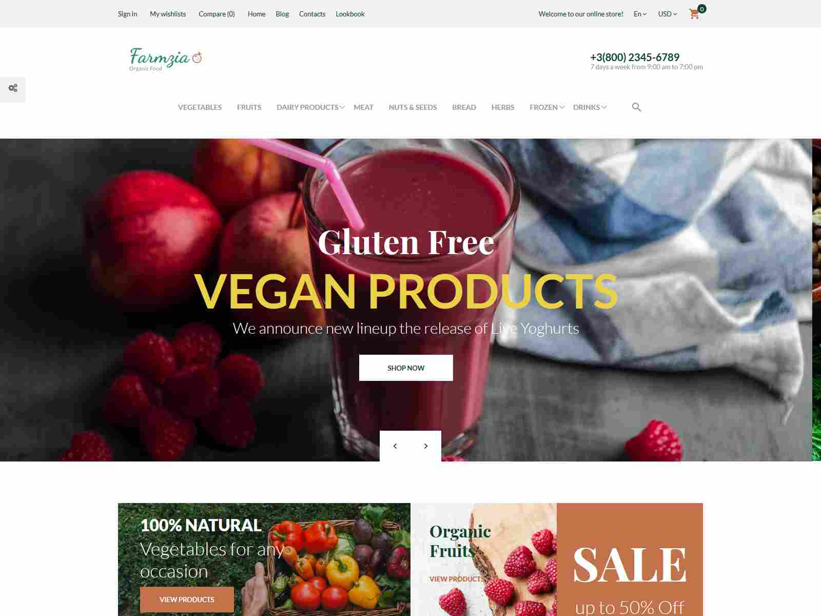 Farmzia - Organic Food PrestaShop Theme