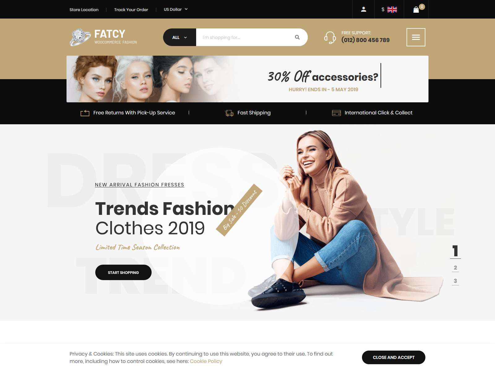 Fatcy - Multipurpose Elementor WooCommerce Theme