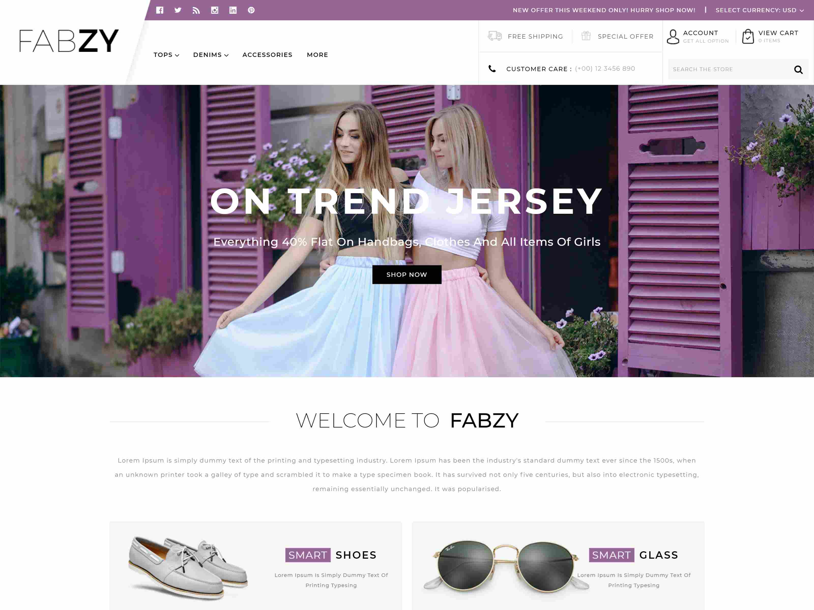 Febzy - Multipurpose Stencil BigCommerce Theme Clothing BigCommerce Themes