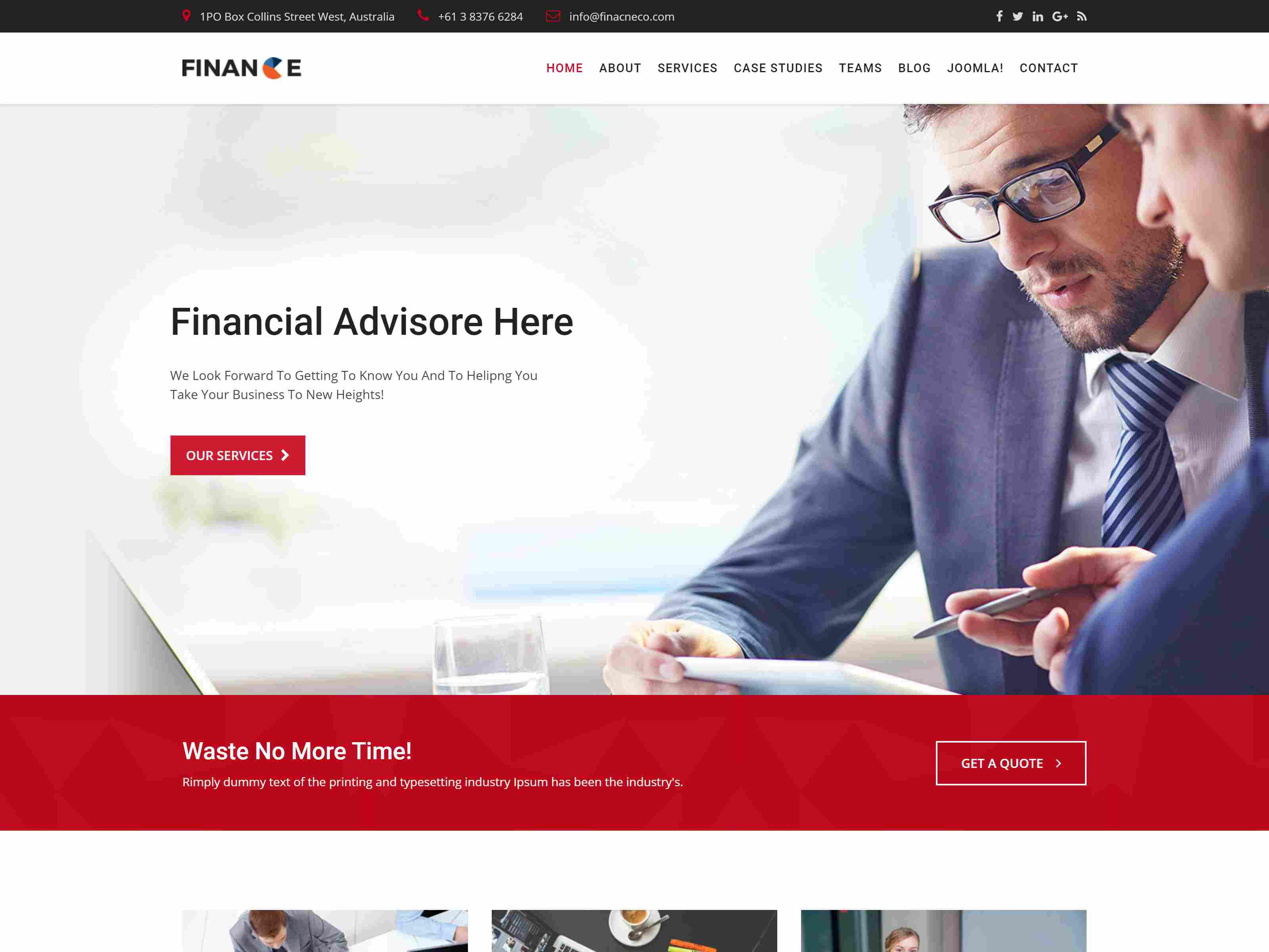 Finance - Business & Consulting Joomla Template