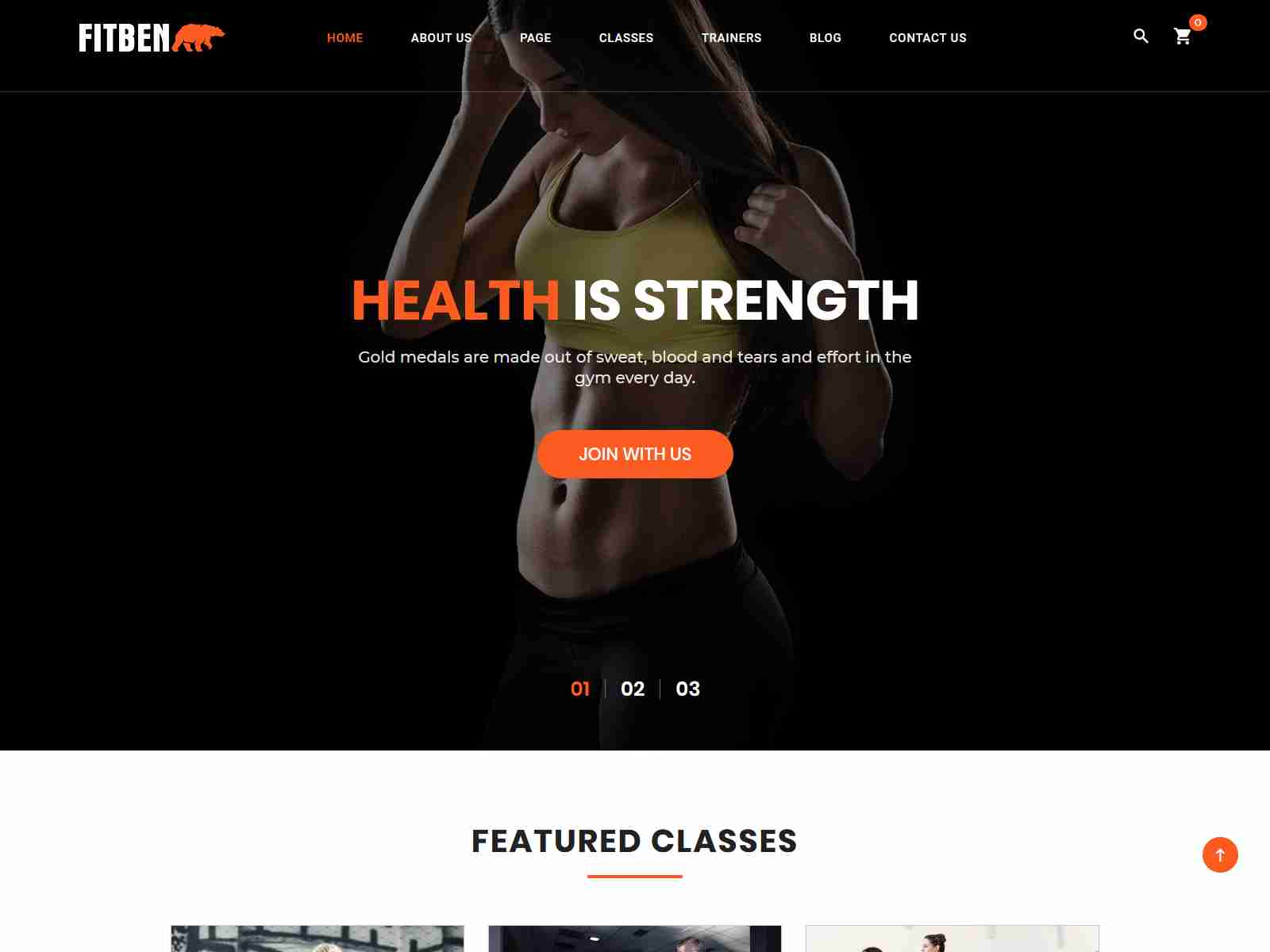 Fitben - Gym Fitness WordPress Theme