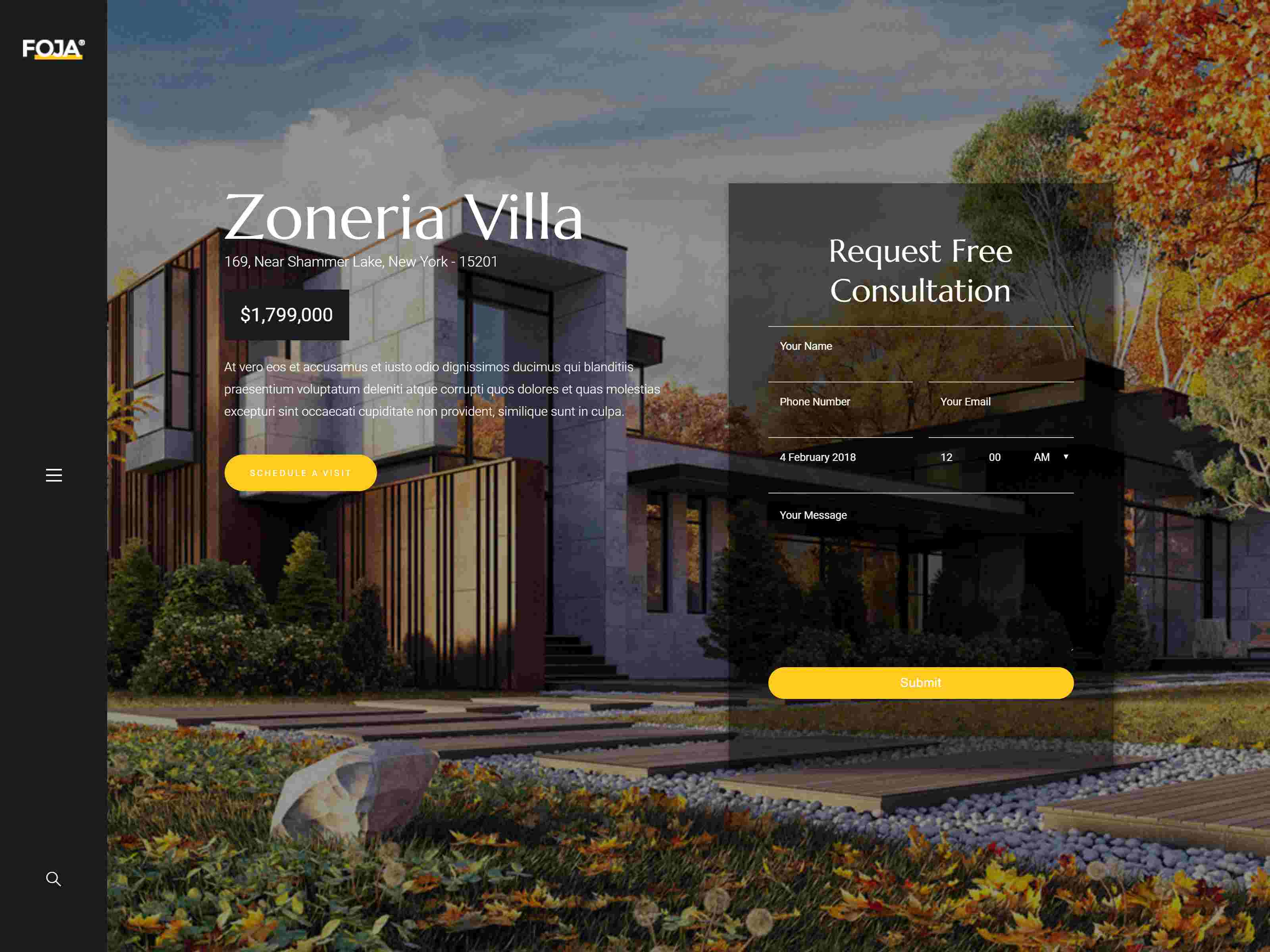 Foja | Single Property WordPress Theme architecture wordpress themes, real estate wordpress theme