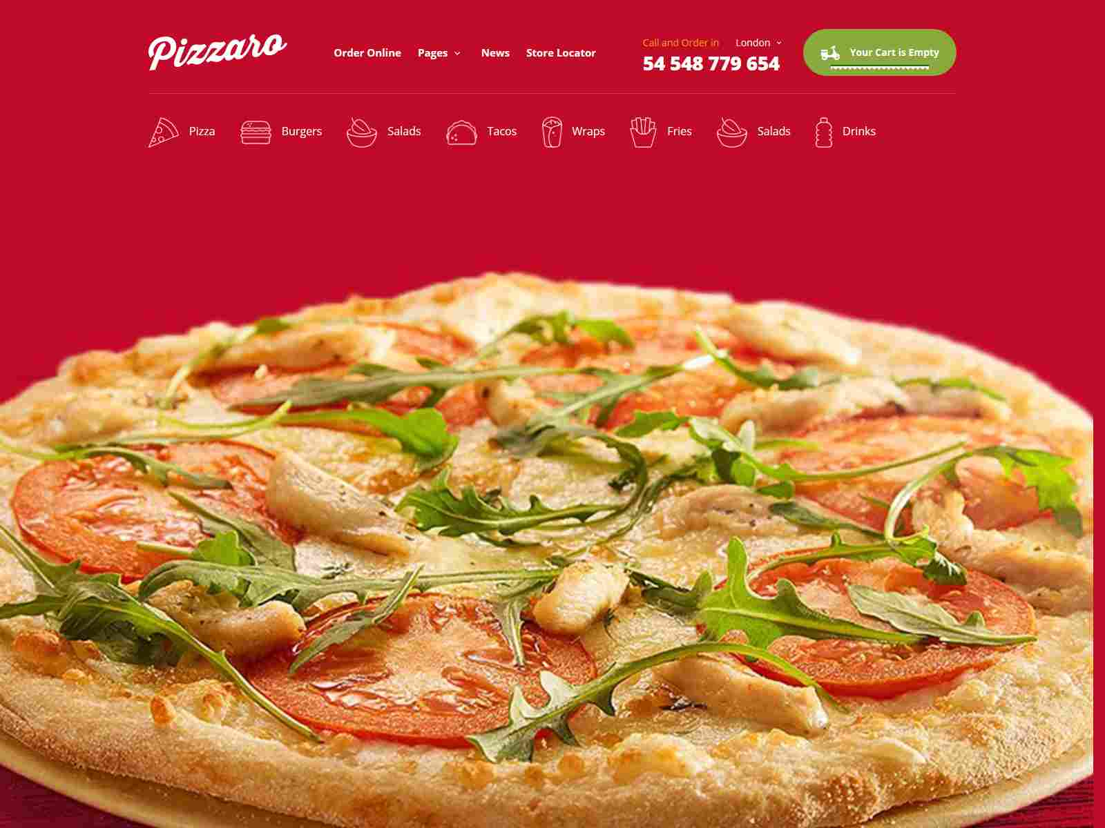 Food Store Shopify Theme - Pizzaro