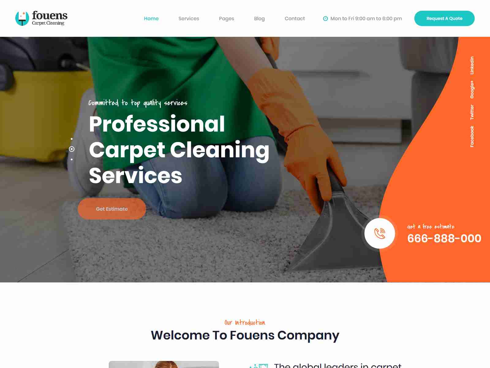 Fouens - Carpet Cleaning WordPress Theme