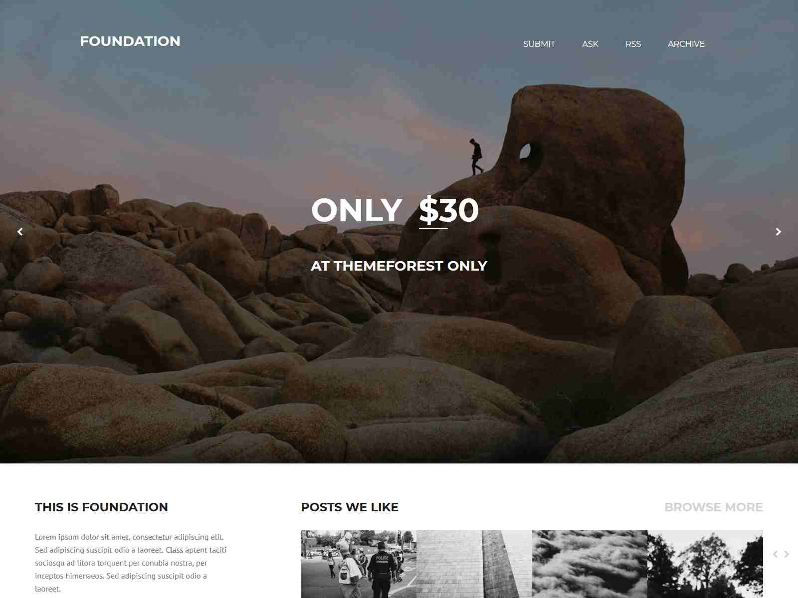 Foundation Tumblr Theme