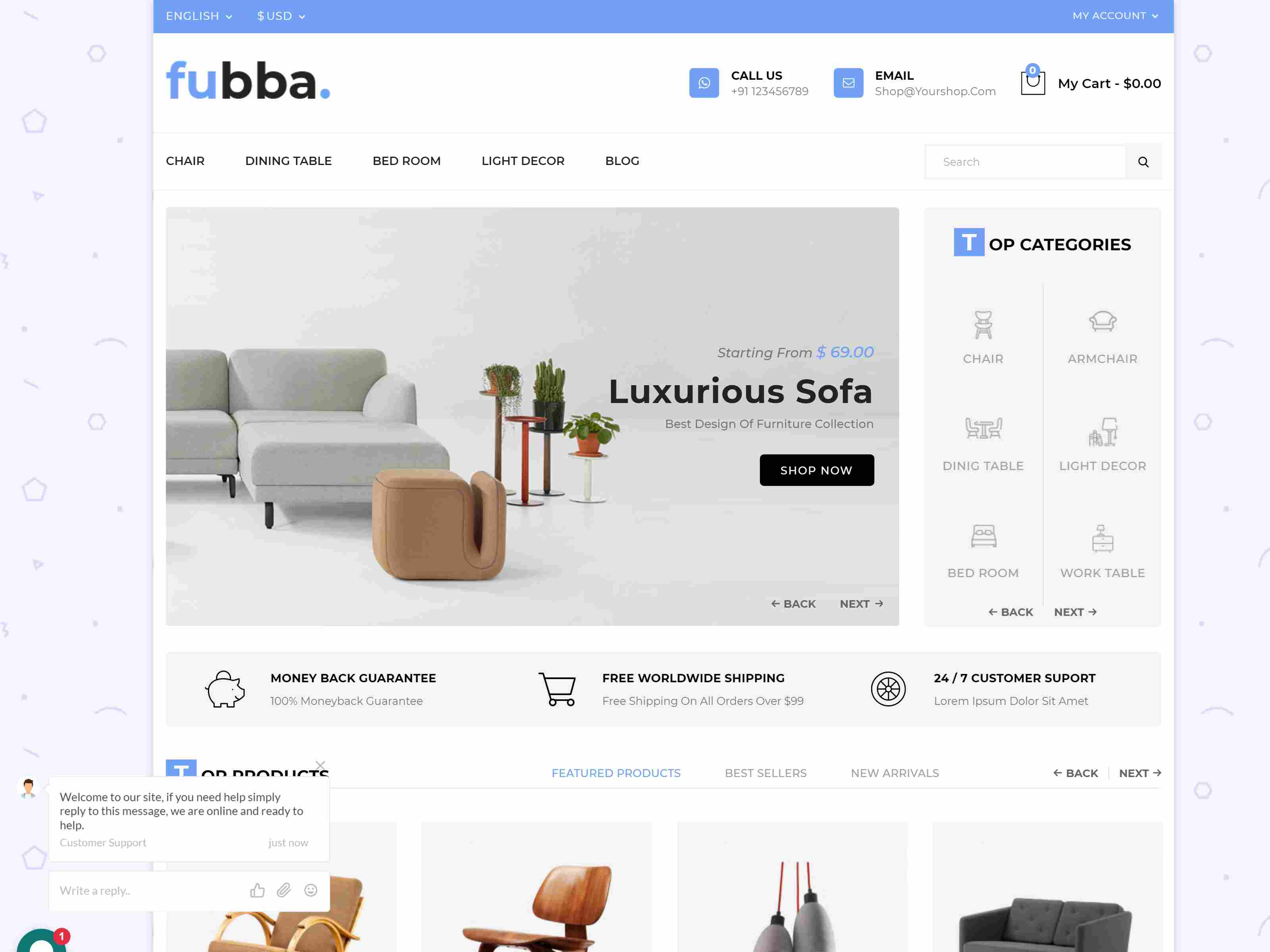 Fubba - Furniture Store Prestashop 1.7 Responsive Theme