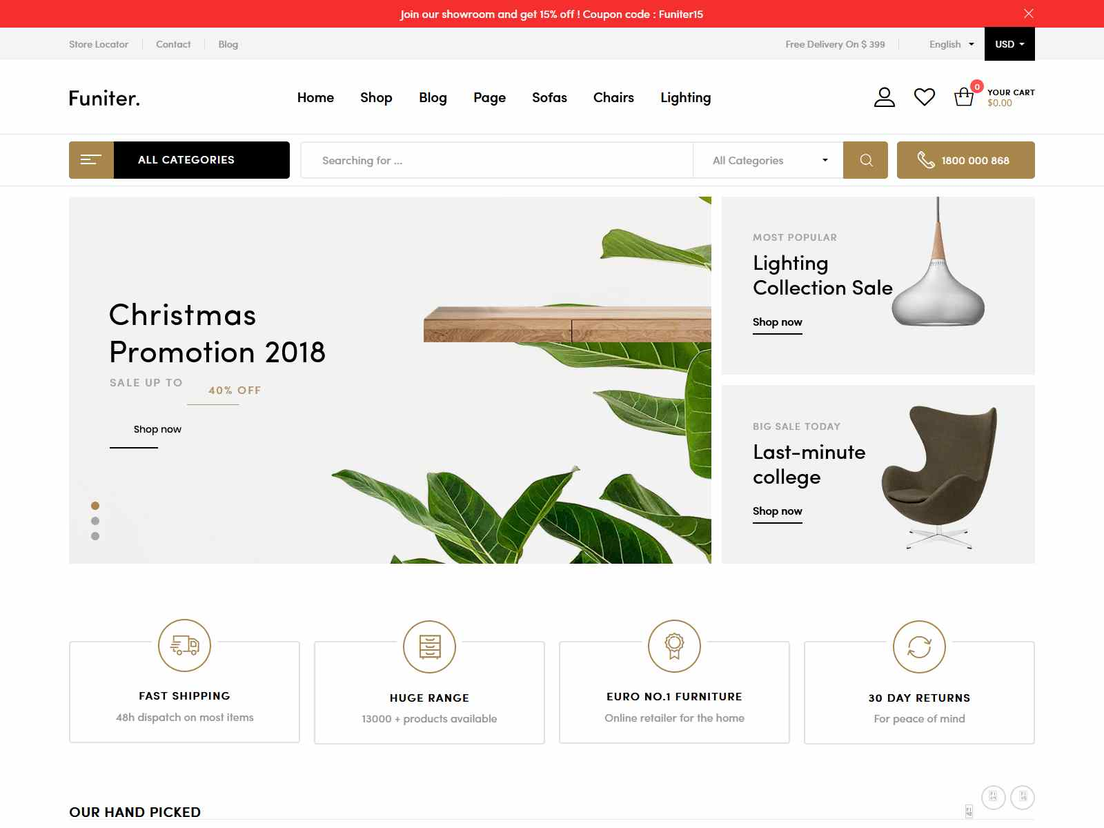 Funiter - Elegant furniture shop for WooCommerce