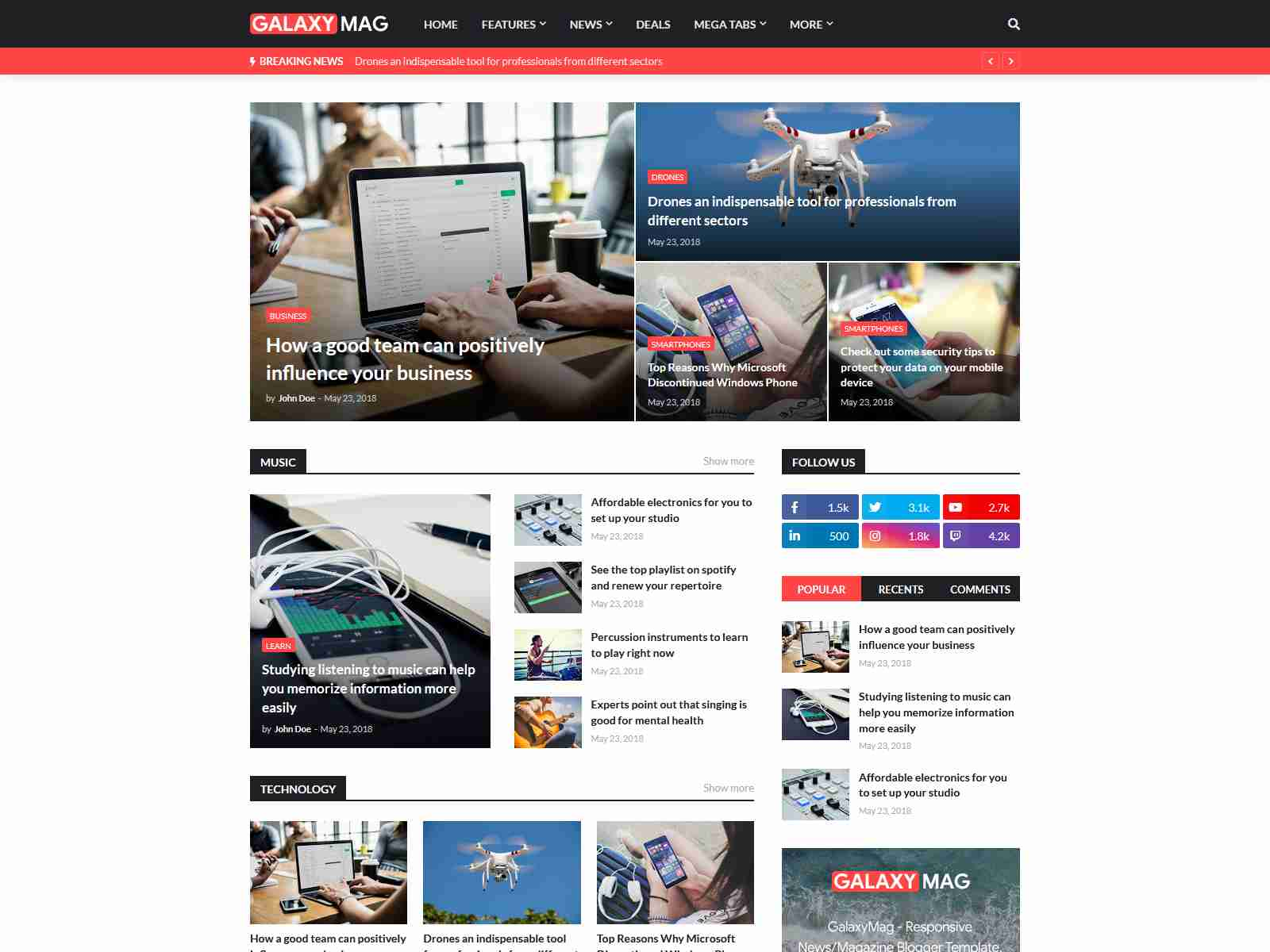 Best Premium Blogger Themes for Blogs, Magazines & News