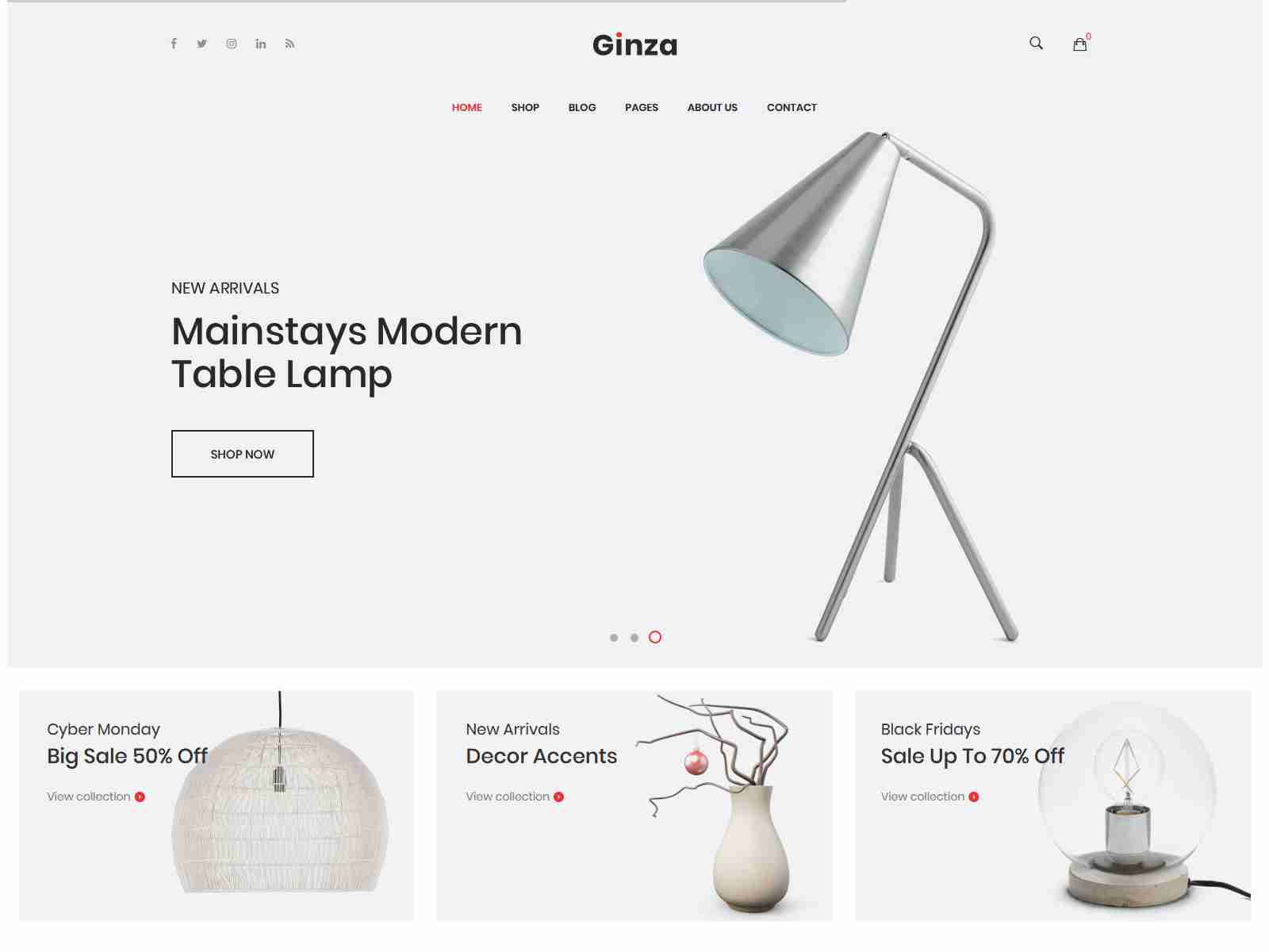 Ginza - Furniture Theme for WooCommerce WordPress