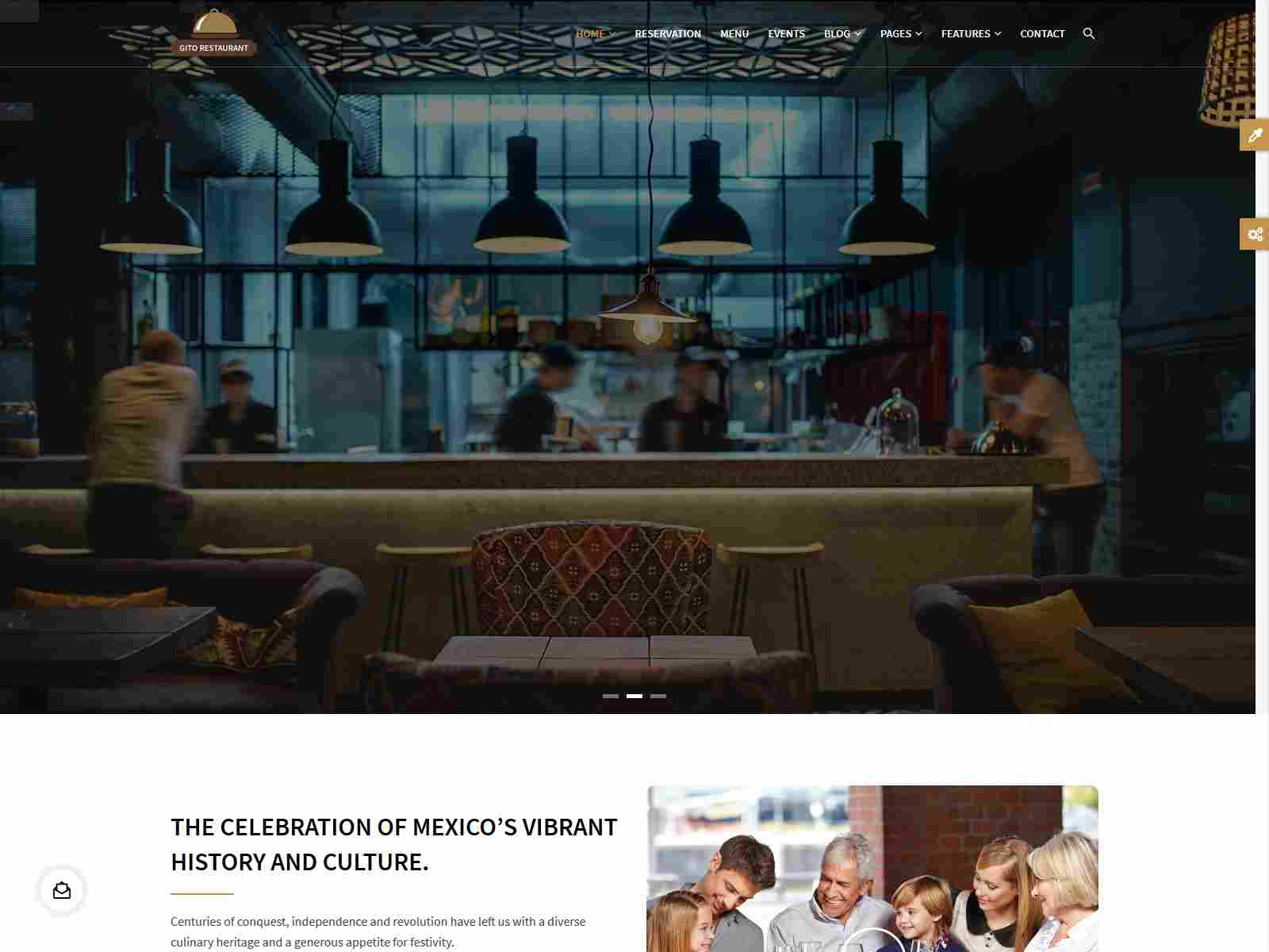 GITO - Cafe & Restaurant Drupal 8.7 Theme