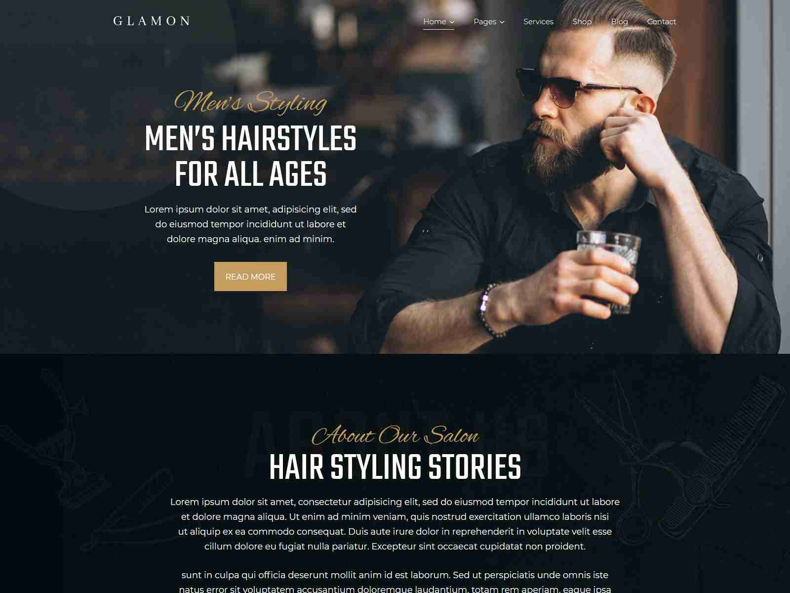Glamon - Salon & Barber Shop Theme