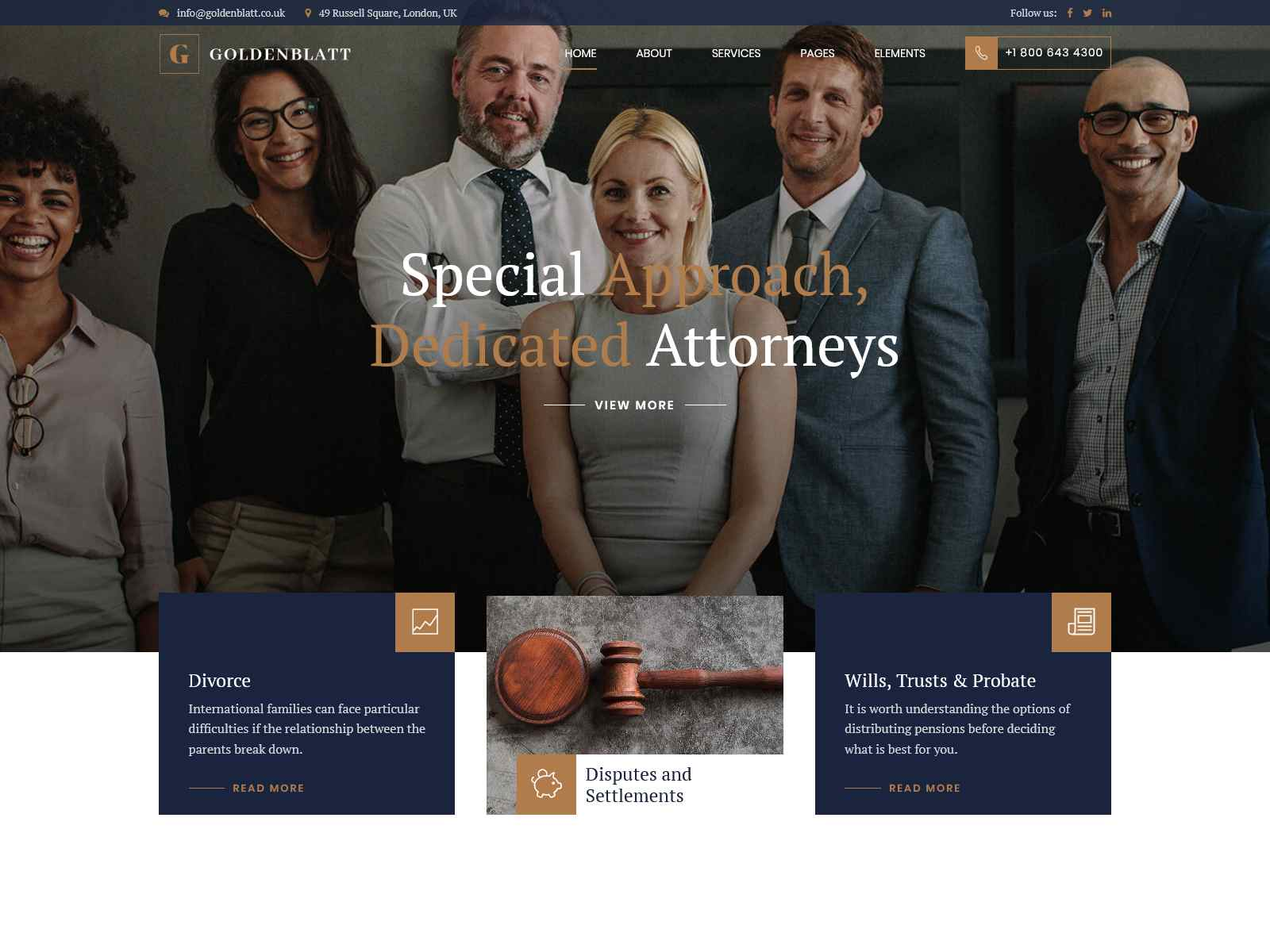 Goldenblatt - WordPress Theme for Lawyer & Attorney