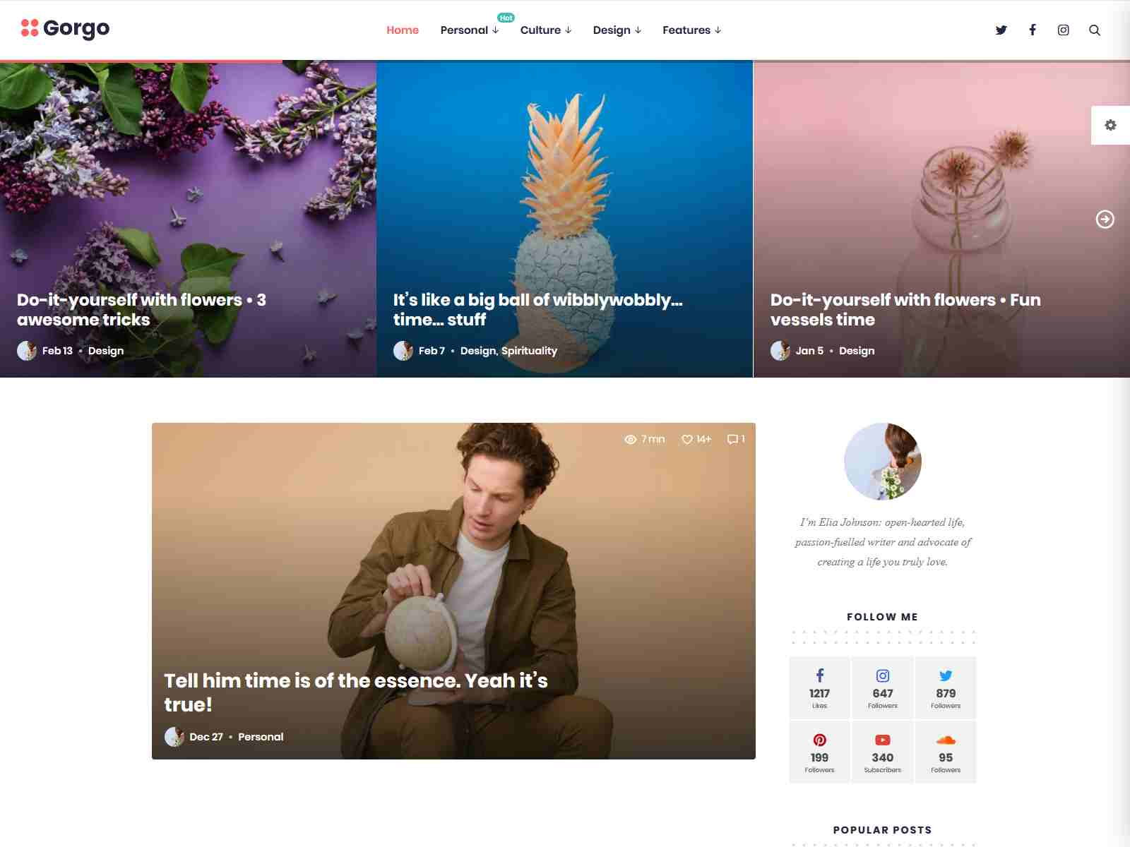 Gorgo - Multi-Purpose Gutenberg Blog & Magazine Theme