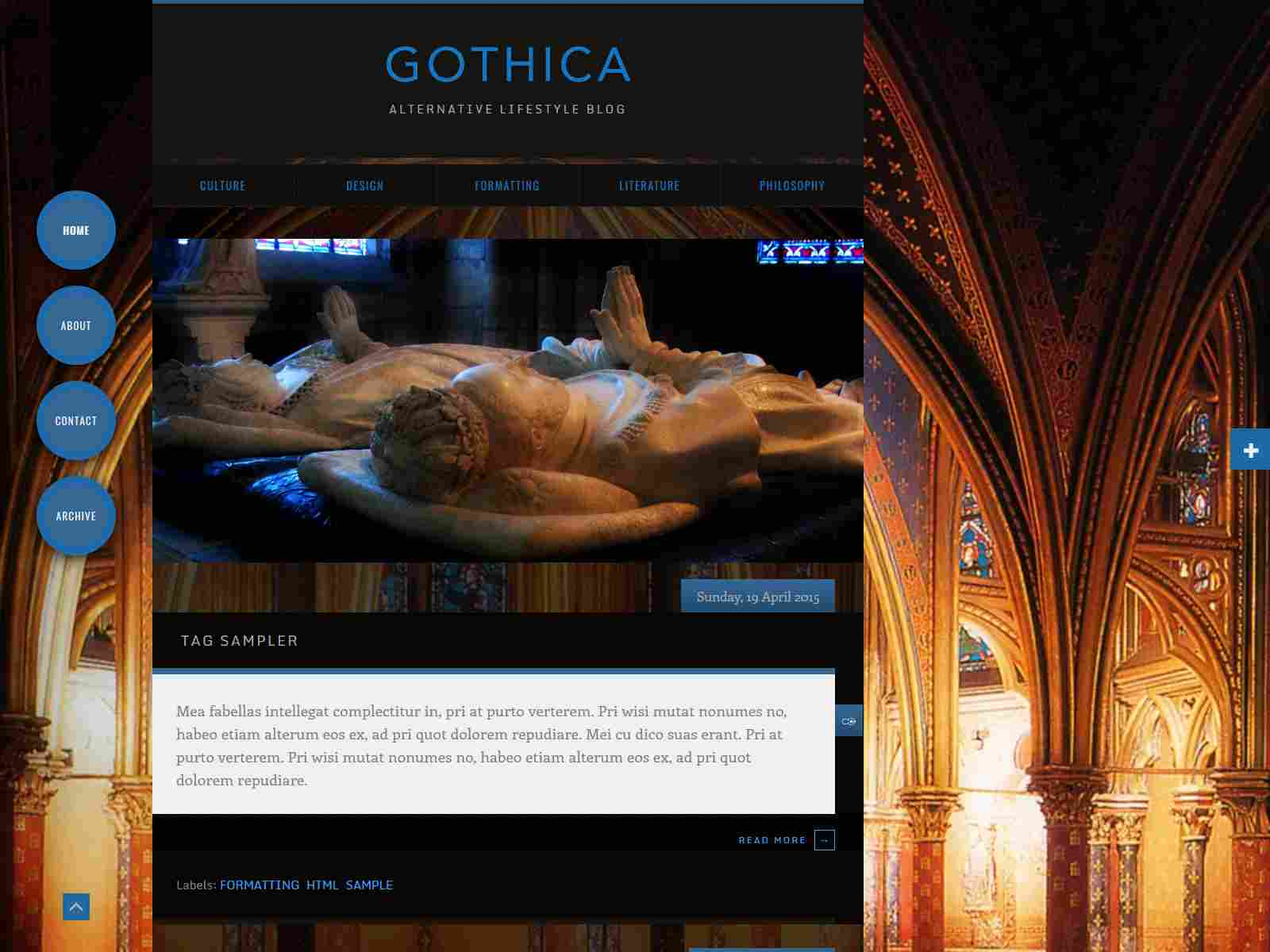 Gothica–Dark Animated Blogger Template