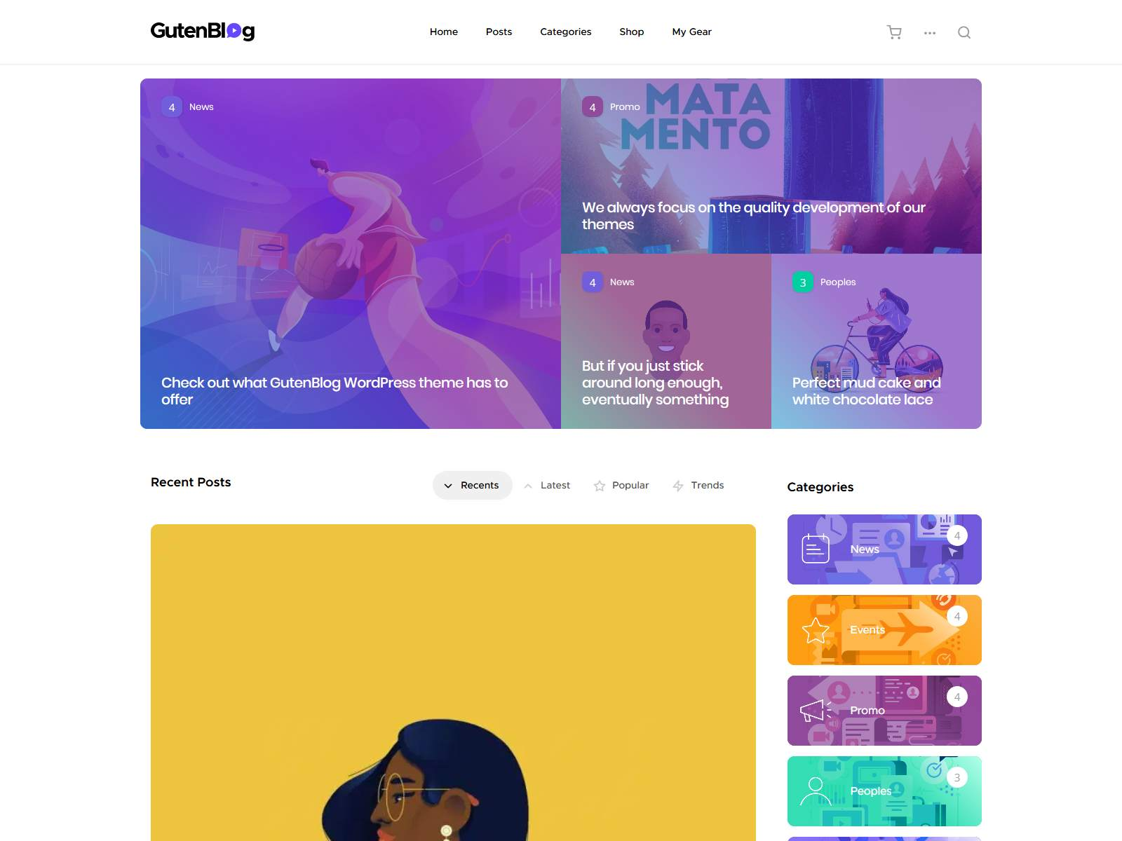 Gutenblog - Modern Blog WordPress Theme