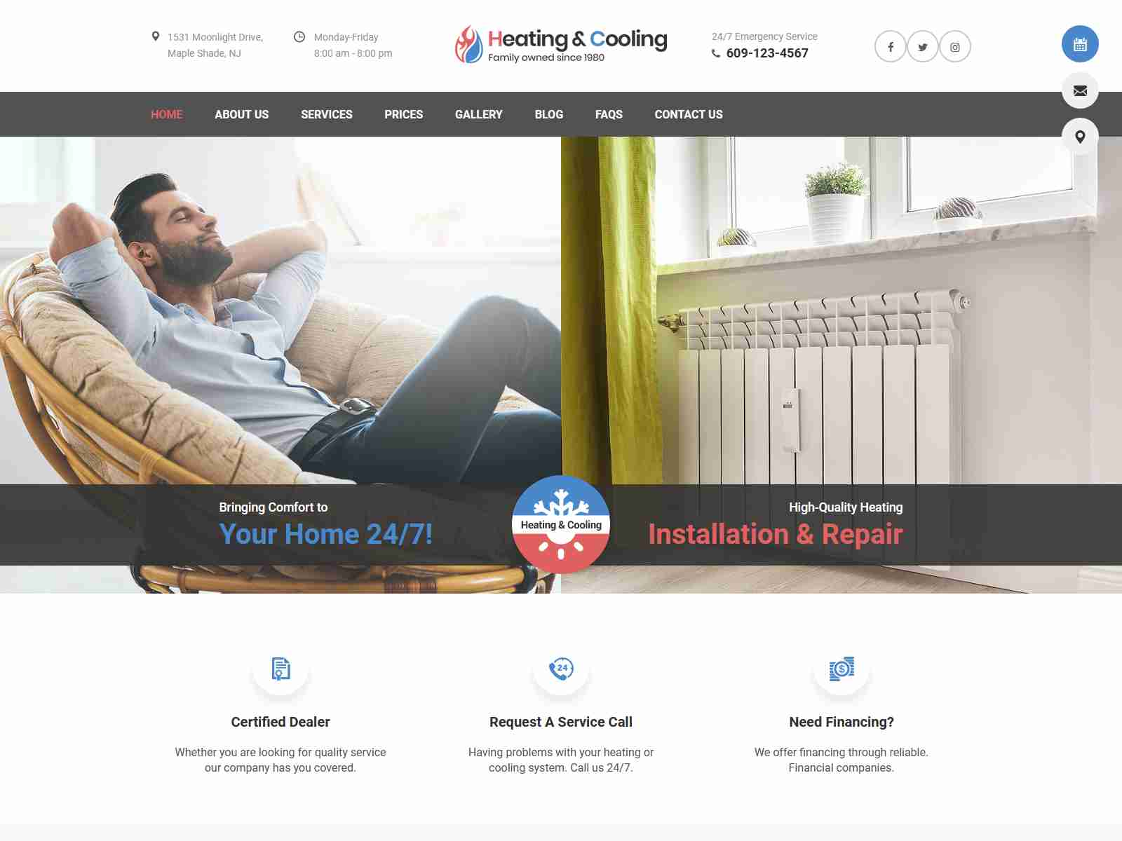 HeaCool - Heating & Air Conditioning WordPress Theme