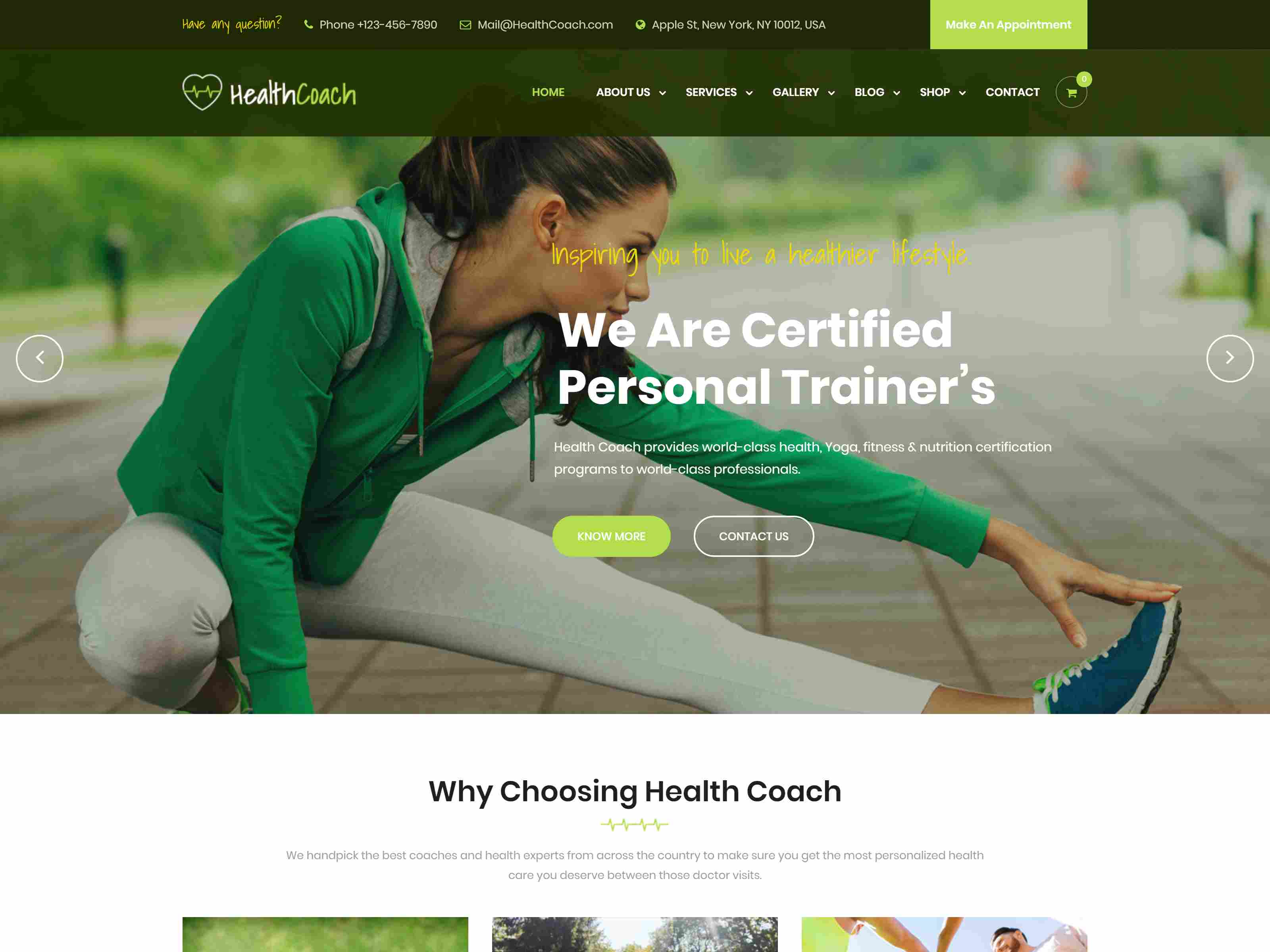 Health Coach - Joomla Template for Fitness, Health, Personal Life Coaching