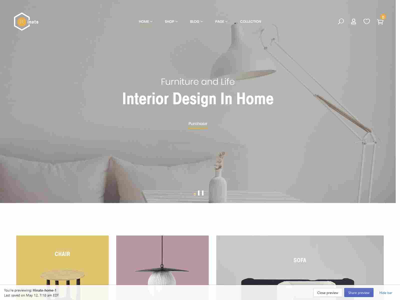 Hinate - Minimal and Modern Furniture Shopify Theme