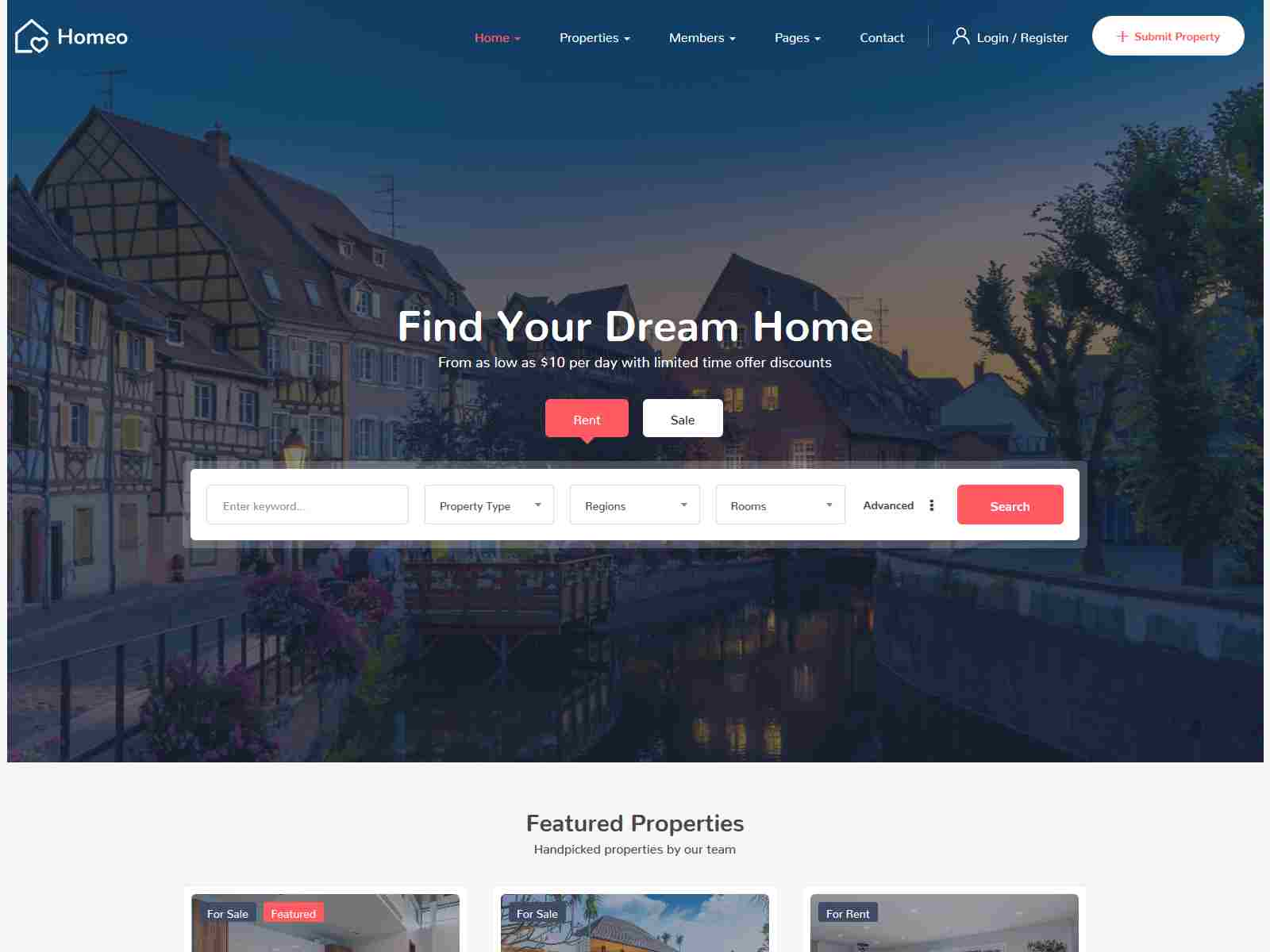 Homeo - Real Estate WordPress Theme