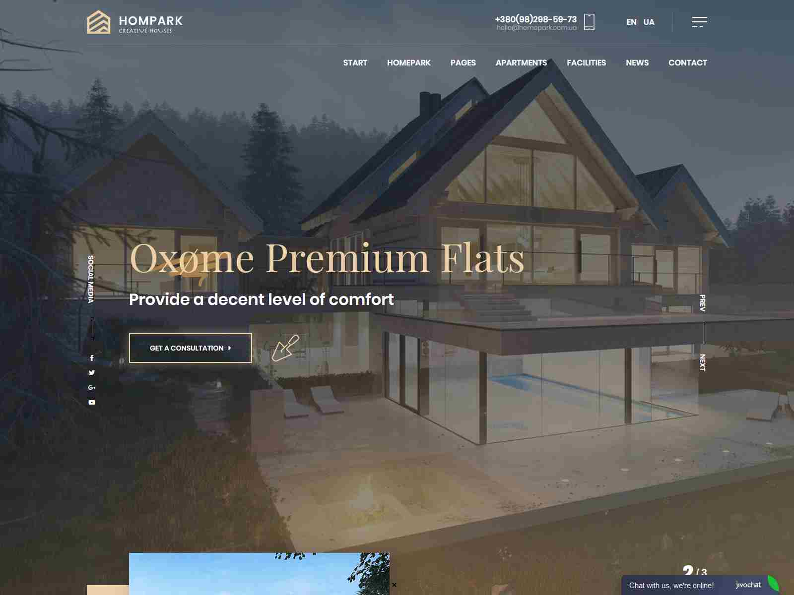 Hompark | Real Estate & Luxury Homes Theme architecture wordpress themes, real estate wordpress theme
