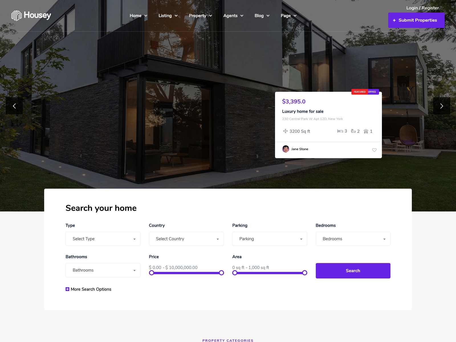 Best Premium Real Estate Listing WordPress Themes