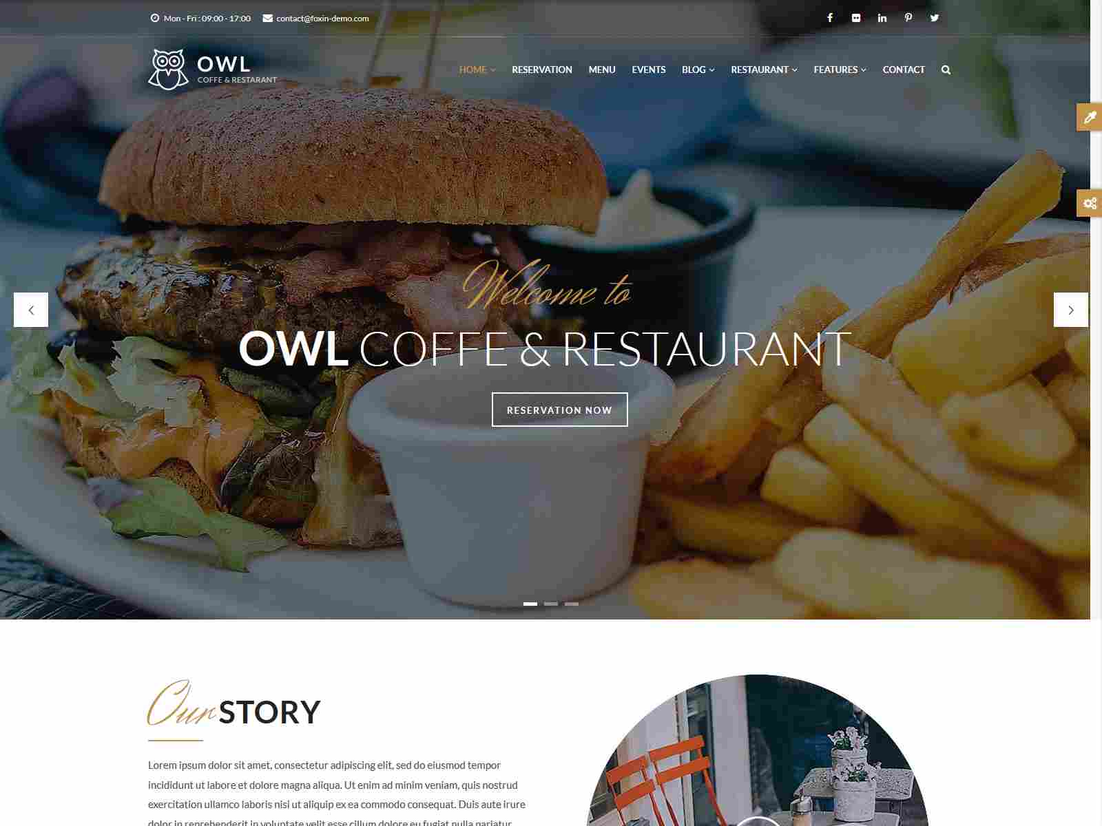 OWL - Cafe & Restaurant Drupal 8.8 Theme