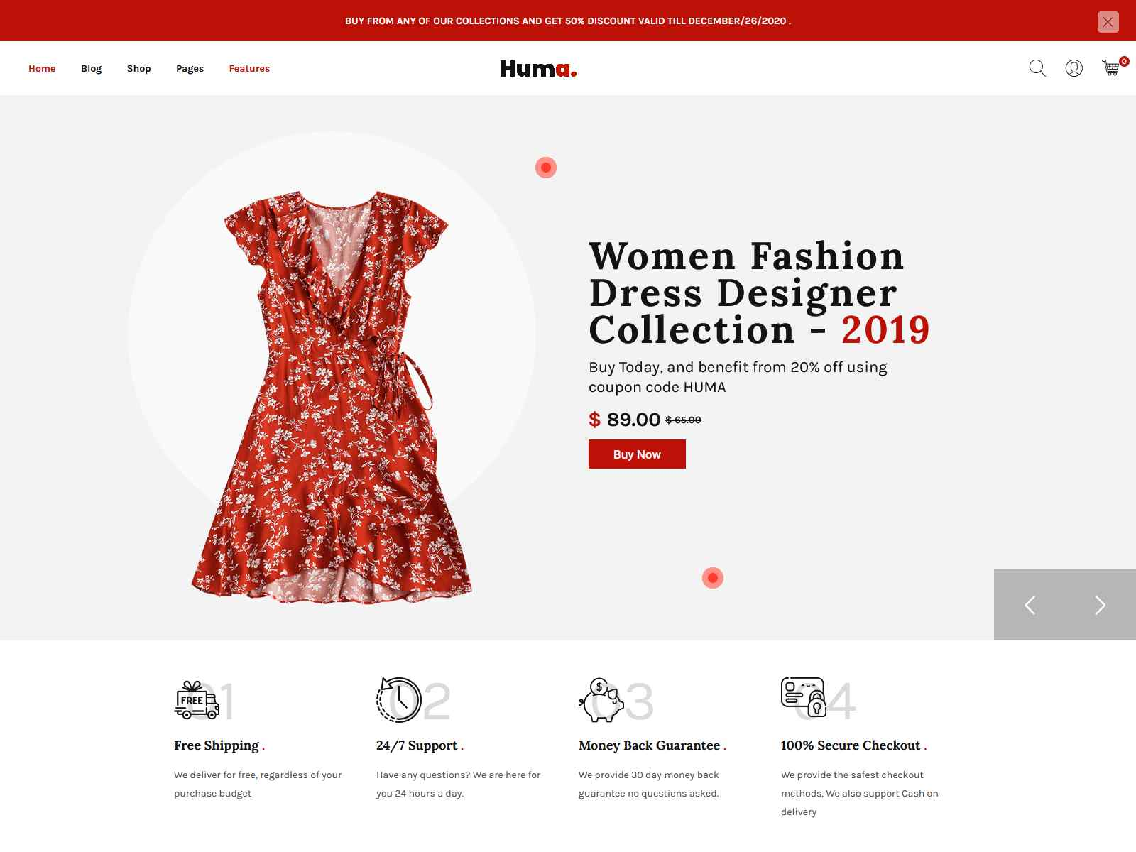 Huma – Fashion E-commerce WordPress Theme