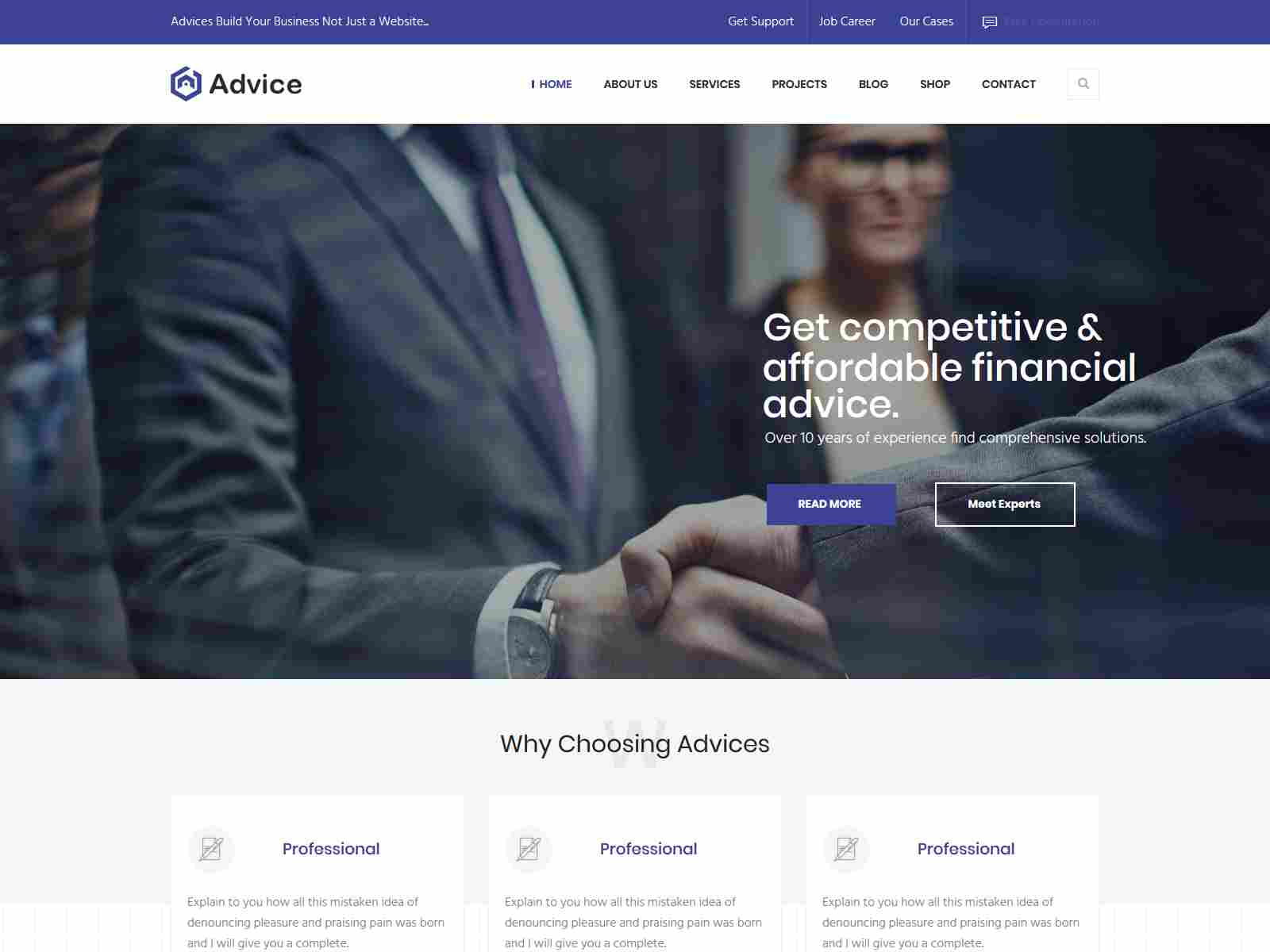 iAdvice - Business Consulting and Professional Services Drupal 8 Theme