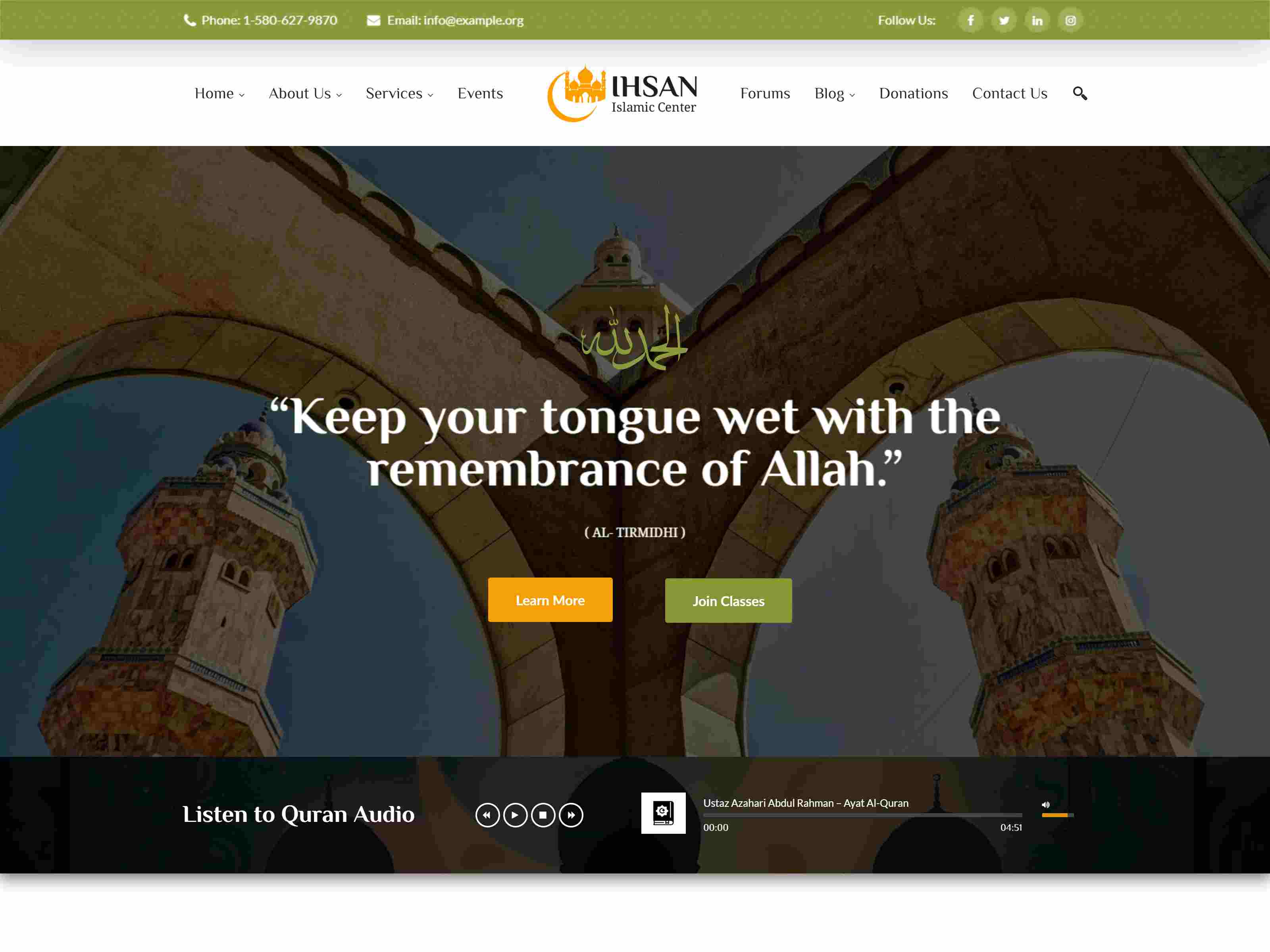 Best Premium Mosque WordPress Themes