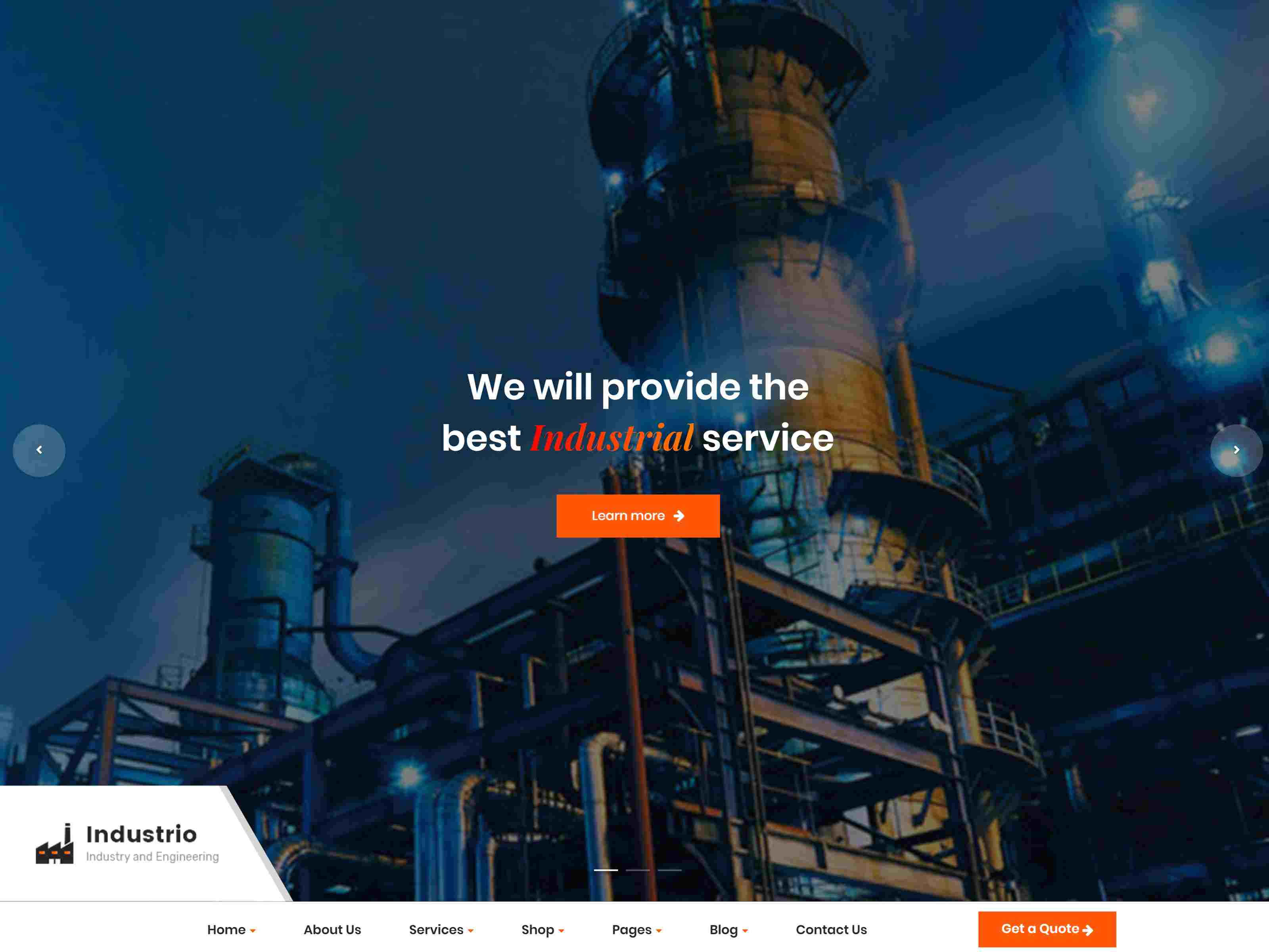Industrial - Industry & Factory WordPress Consulting Firms WordPress Themes