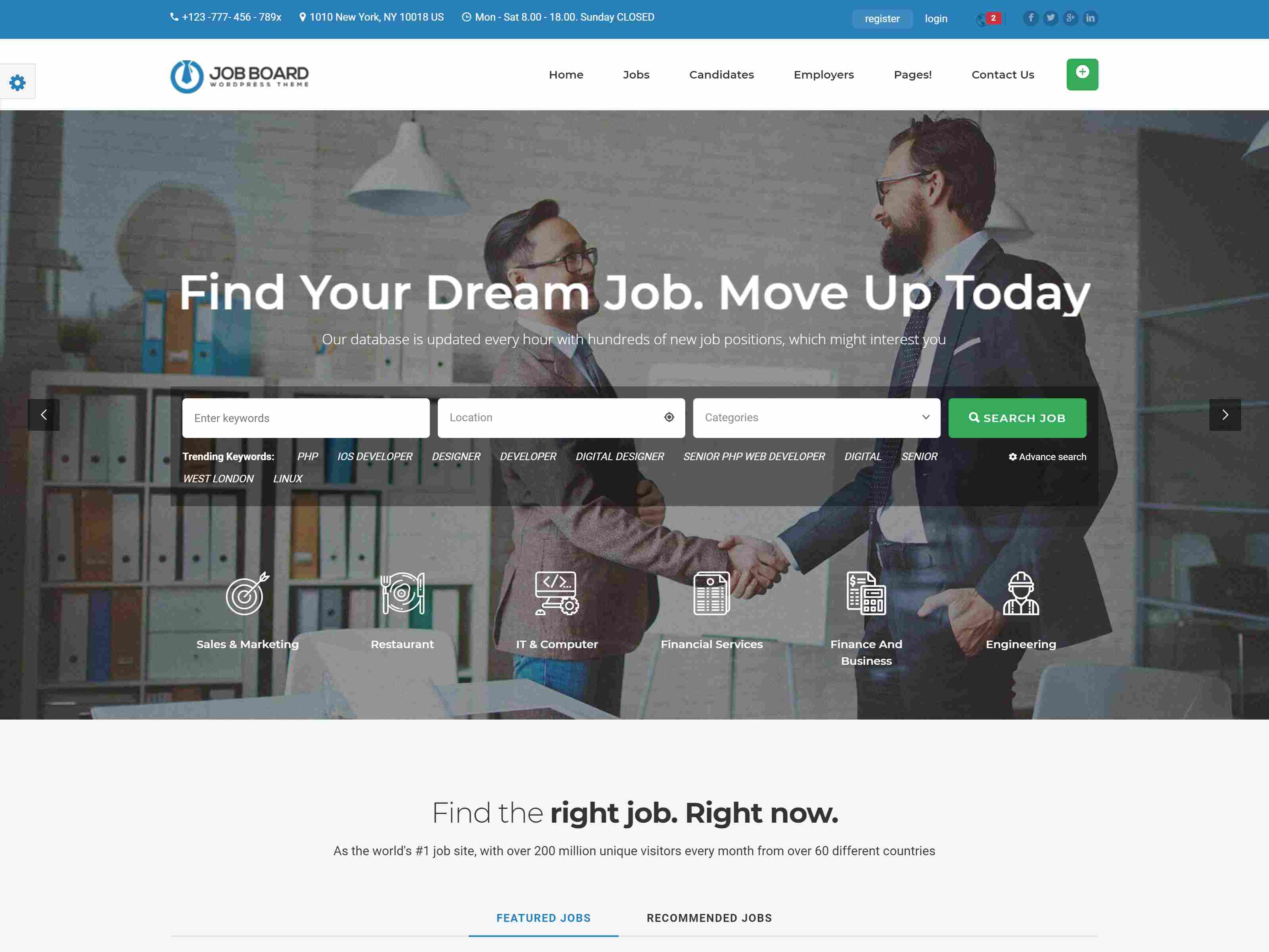 InJob | Multi features for recruitment WordPress Theme