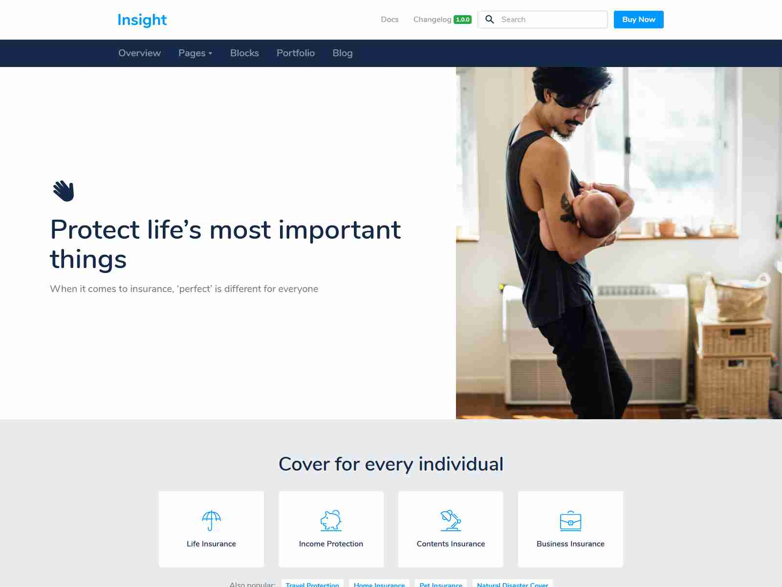 Insight - Modular Responsive WordPress Theme for Business