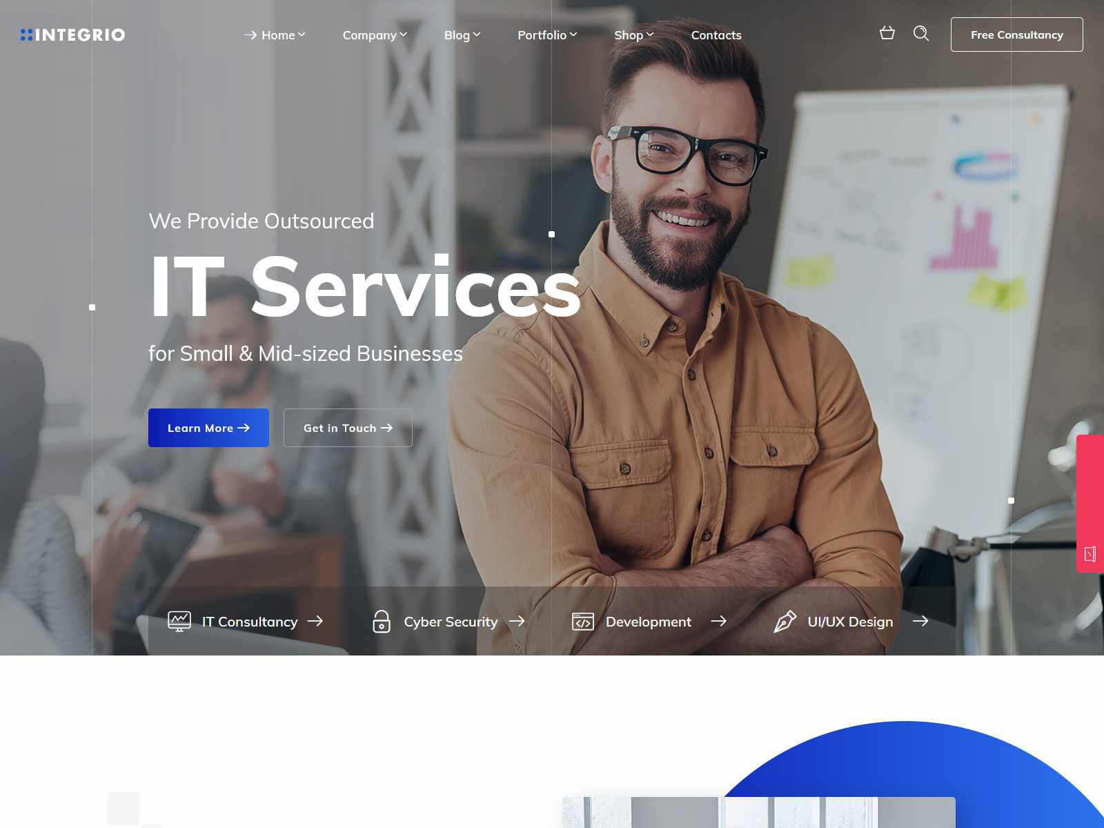 Integrio - IT Solutions and Services Company WordPress Theme