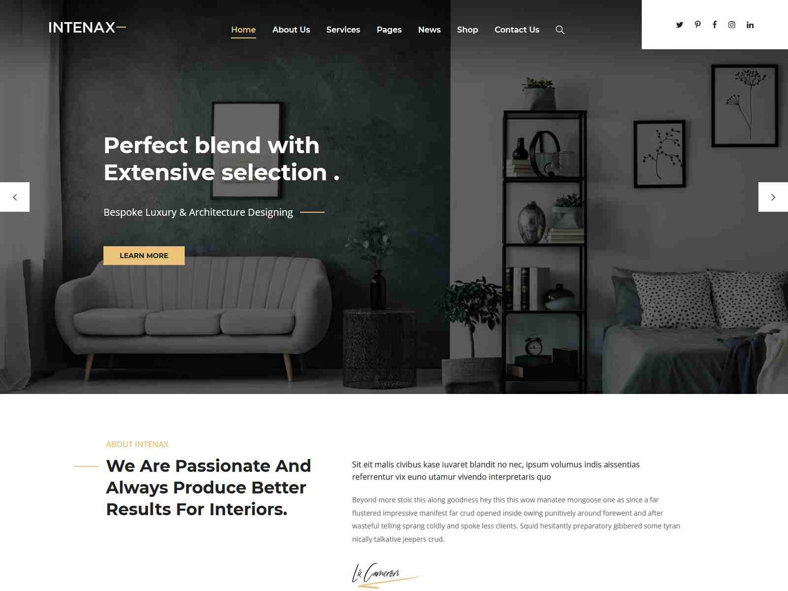 Intenax - Architecture WordPress Theme architecture wordpress themes, real estate wordpress theme