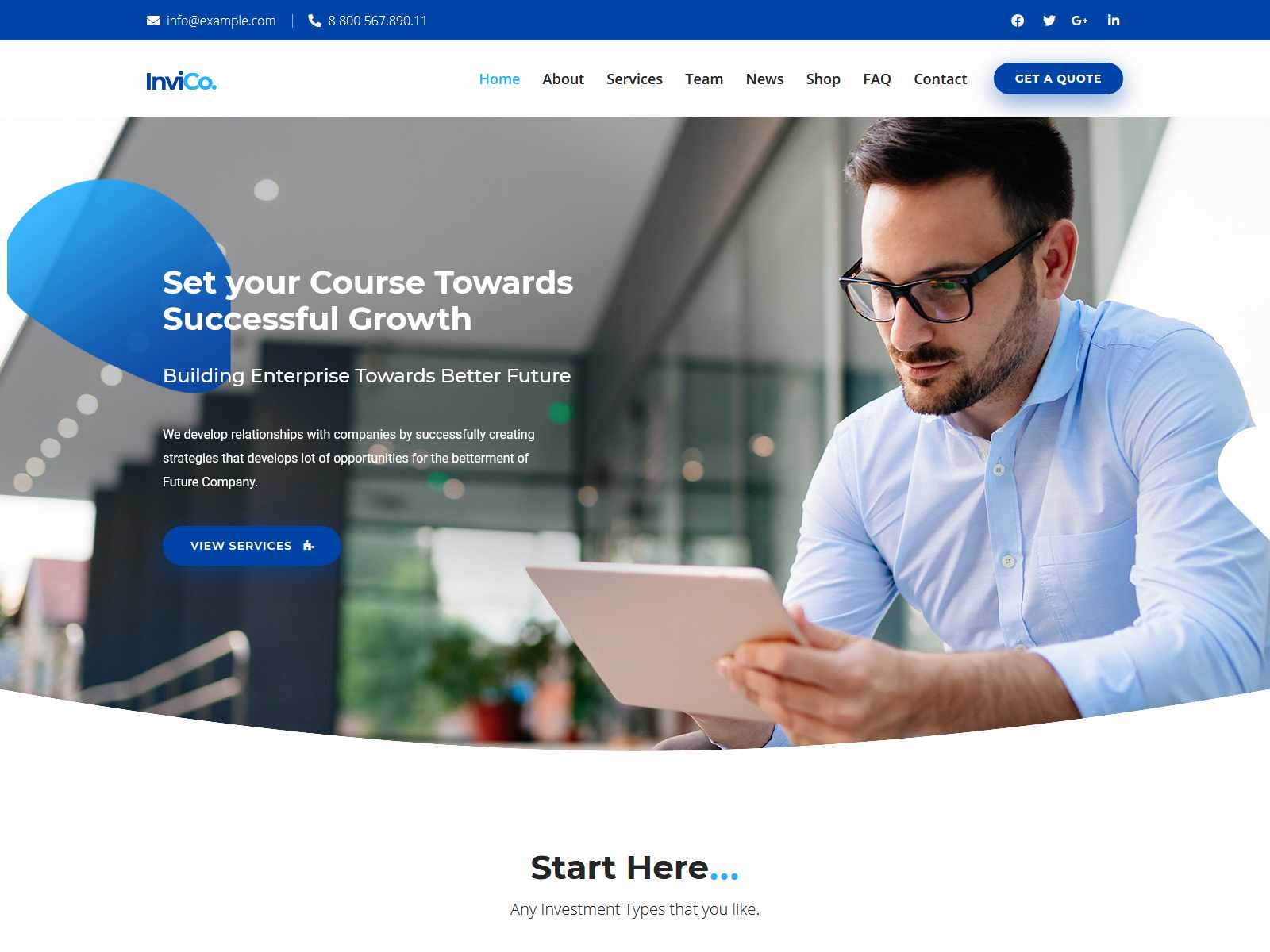Invico - Consulting Theme Insurance Company WordPress Themes