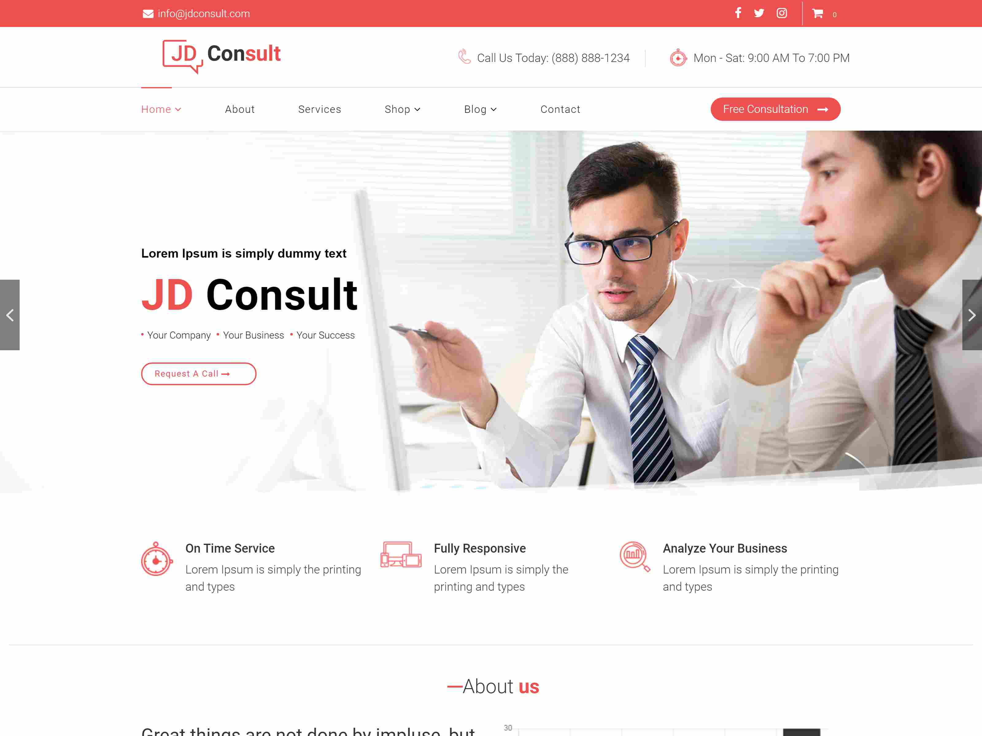 JD Consult - Multipurpose & eCommerce Joomla Template