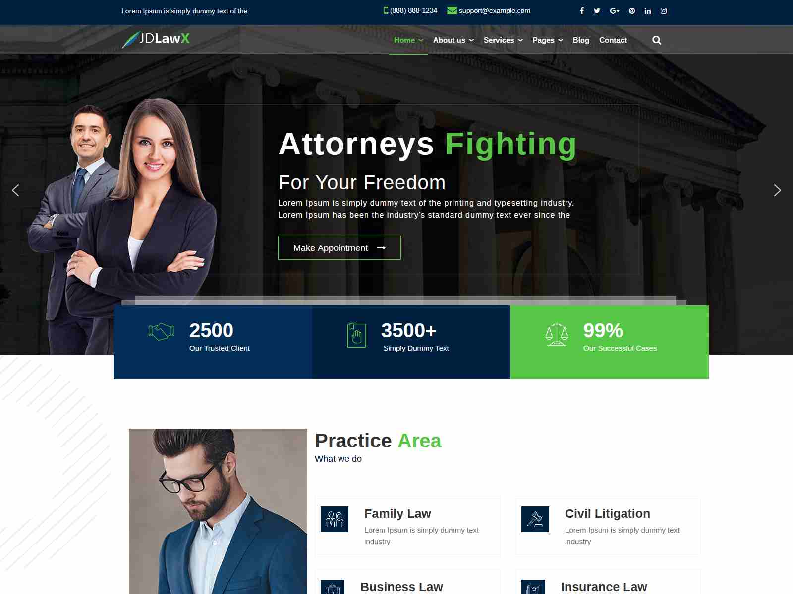 JD LawX - Lawyer Joomla Template Consulting Firms WordPress Themes