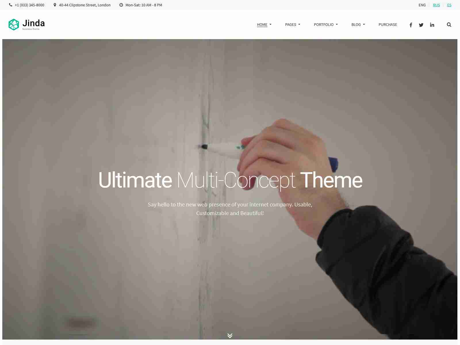 Jinda - Elegant Multi-Concept WordPress theme