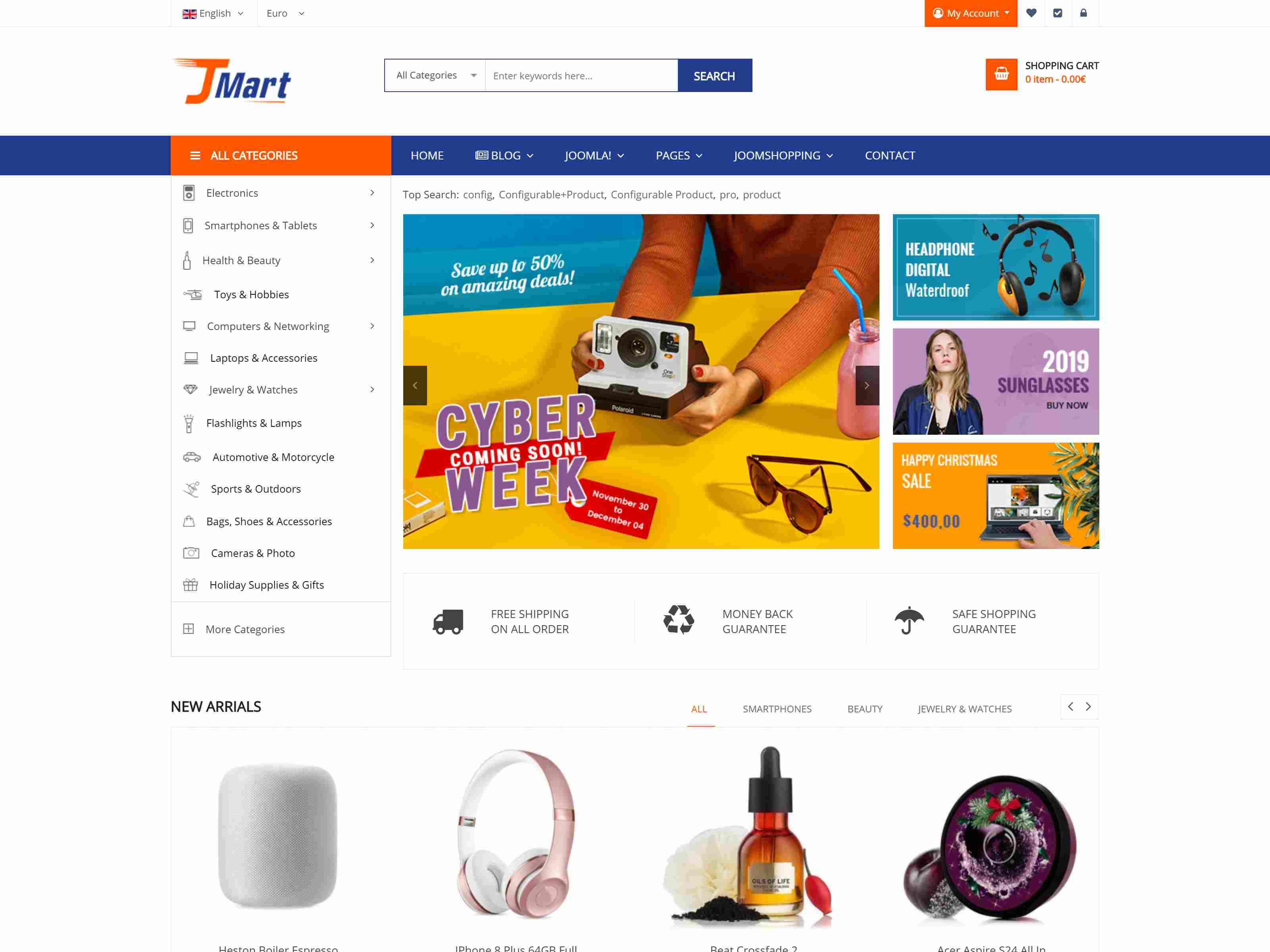 Best Premium eCommerce Joomla Themes