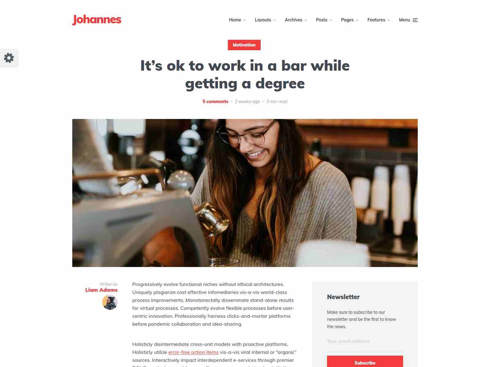 Johannes - Personal Blog Theme for WordPress
