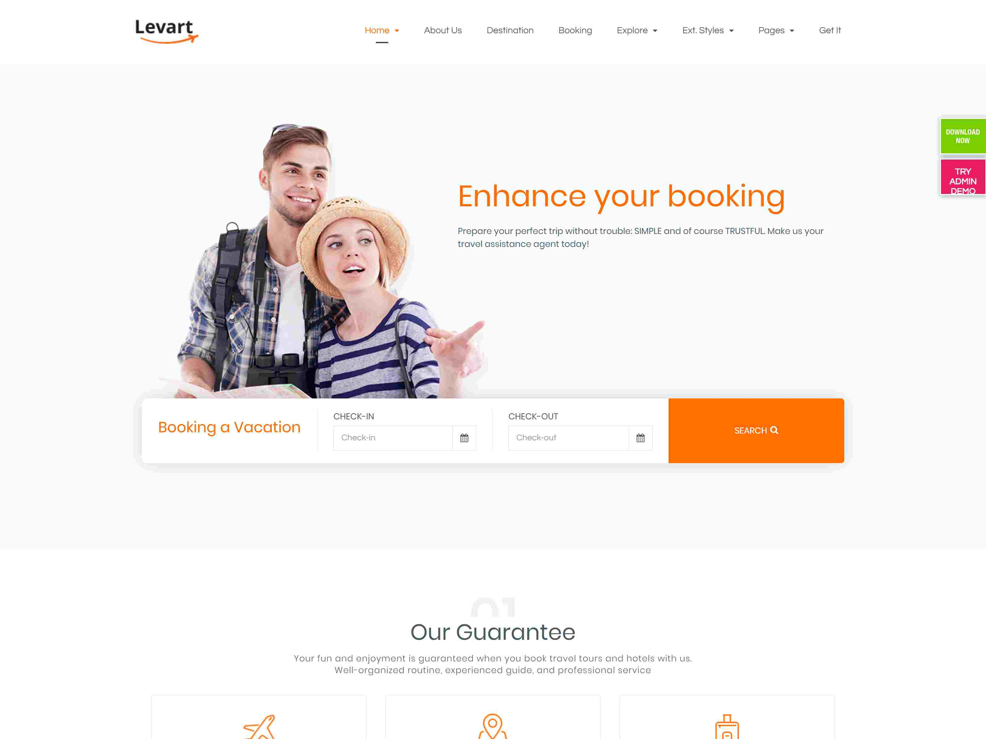JSN Levart - A Responsive Joomla Template for Booking and Travel