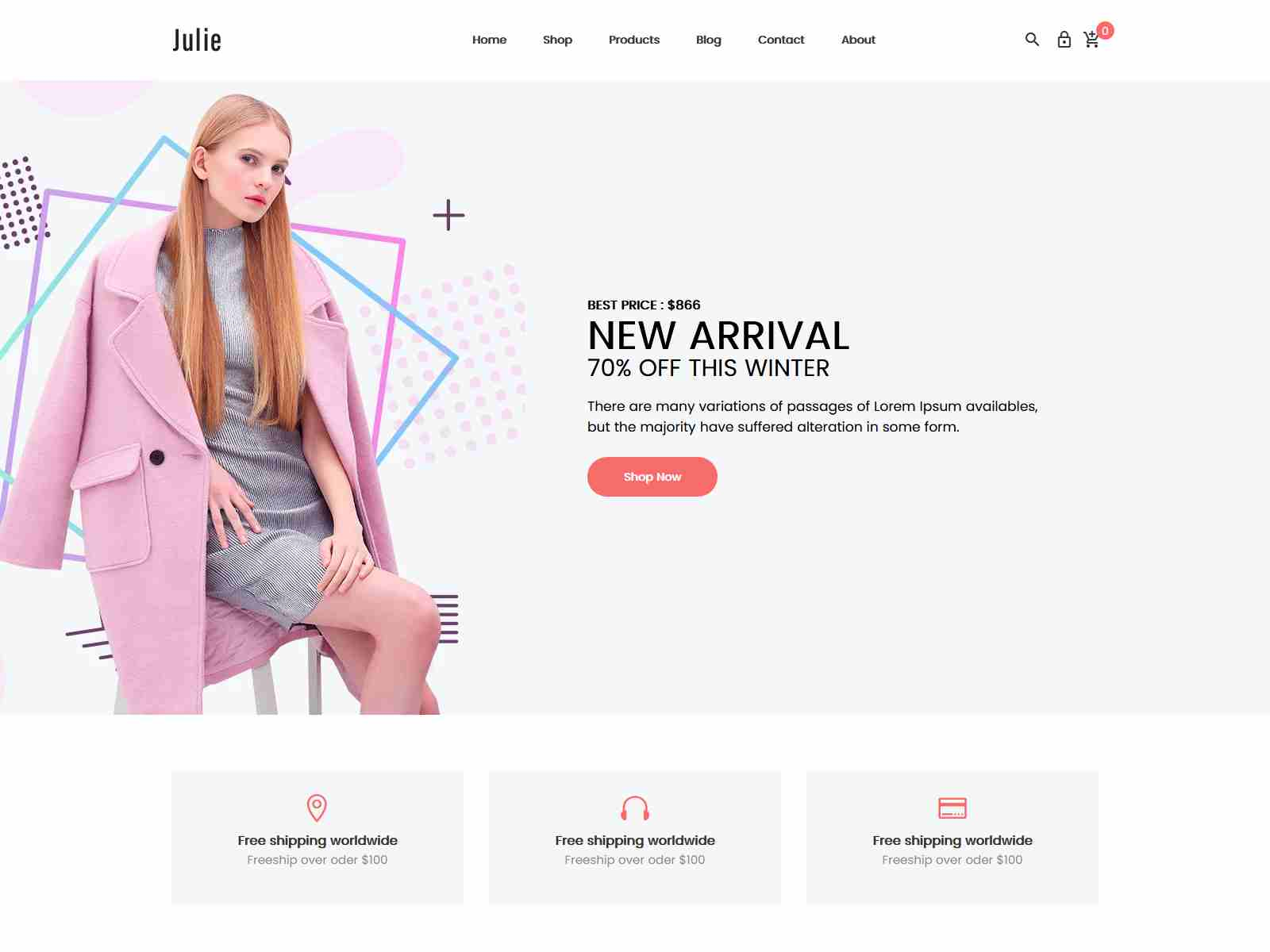 Julie - Minimal Fashion Shopify Theme