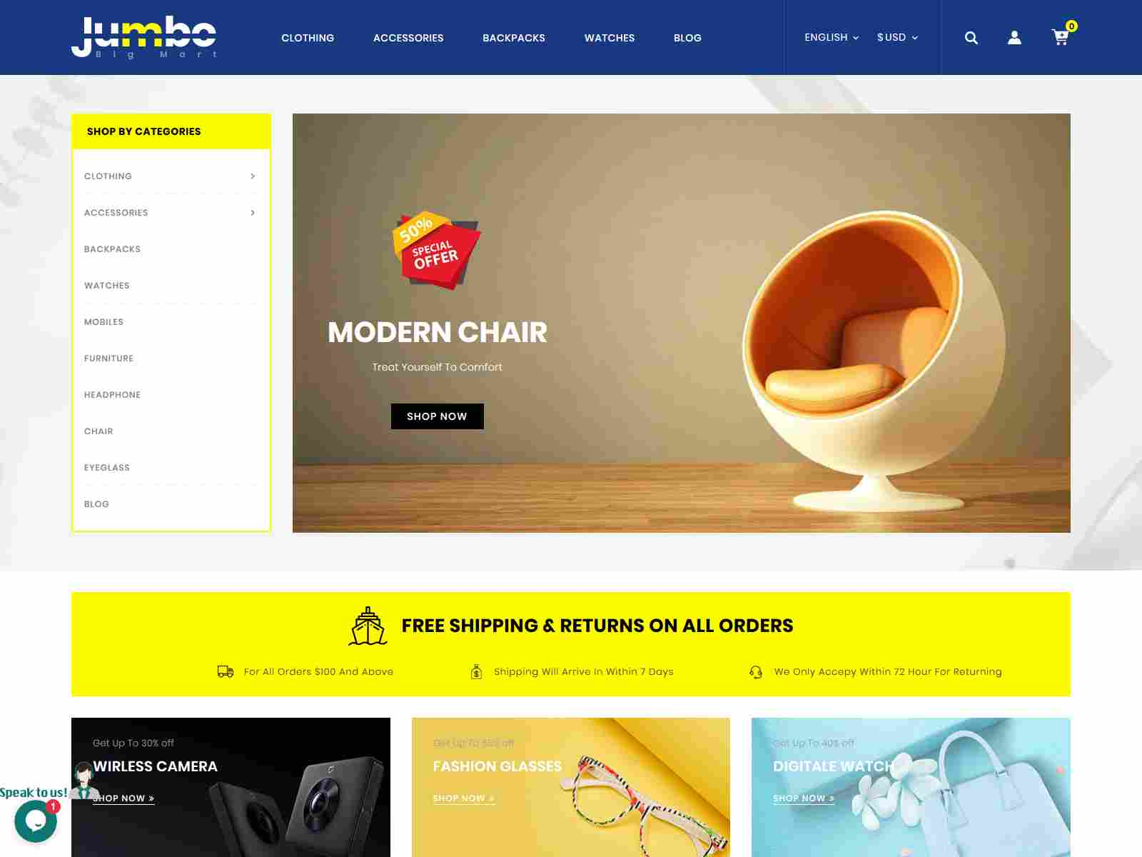 Jumbo - Big Mart Prestashop Theme