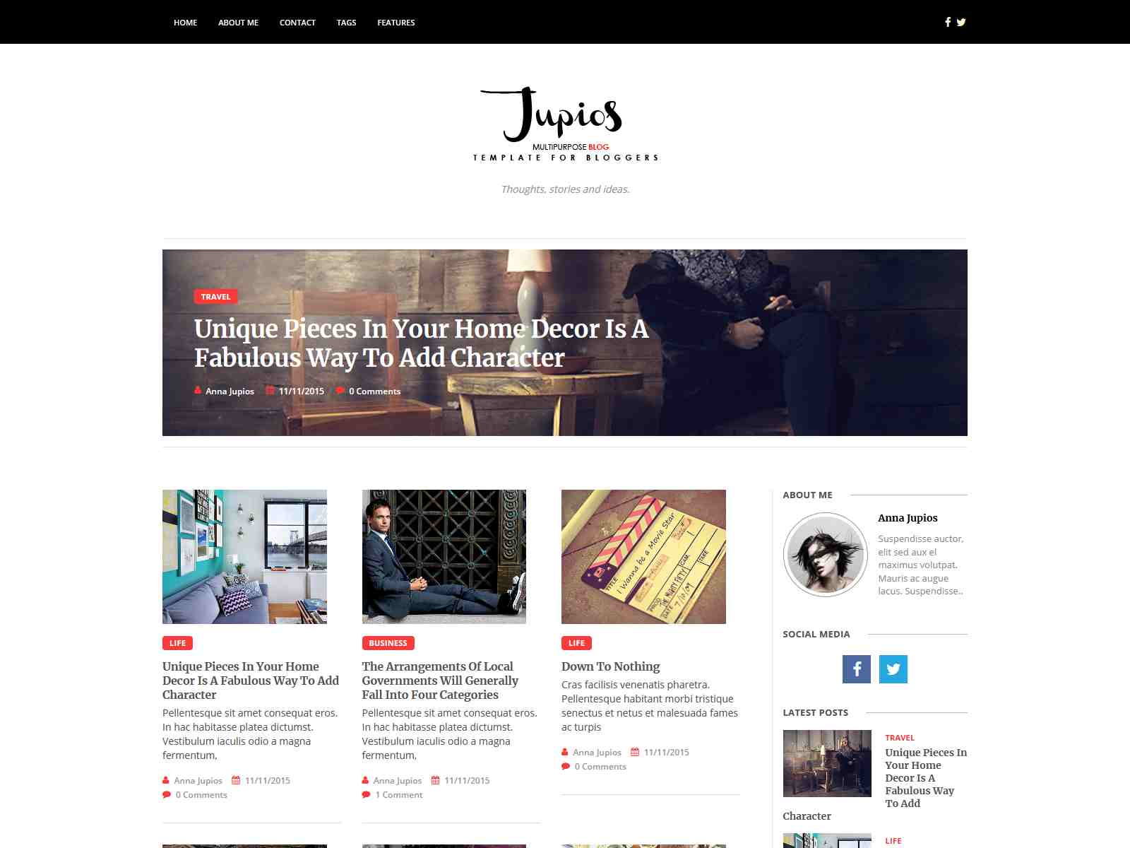 Jupios - Ghost Theme for Bloggers (GloriaThemes)