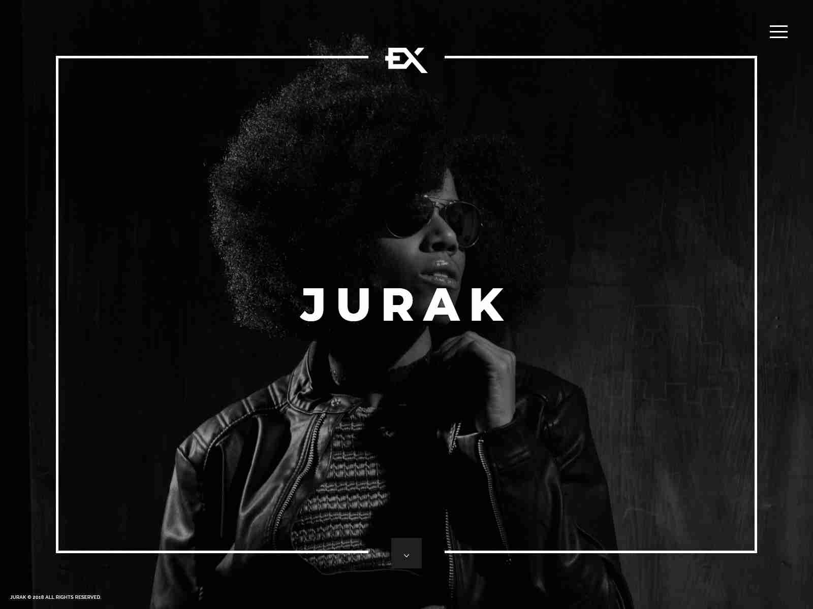 Jurak - One Page Portfolio WordPress Theme
