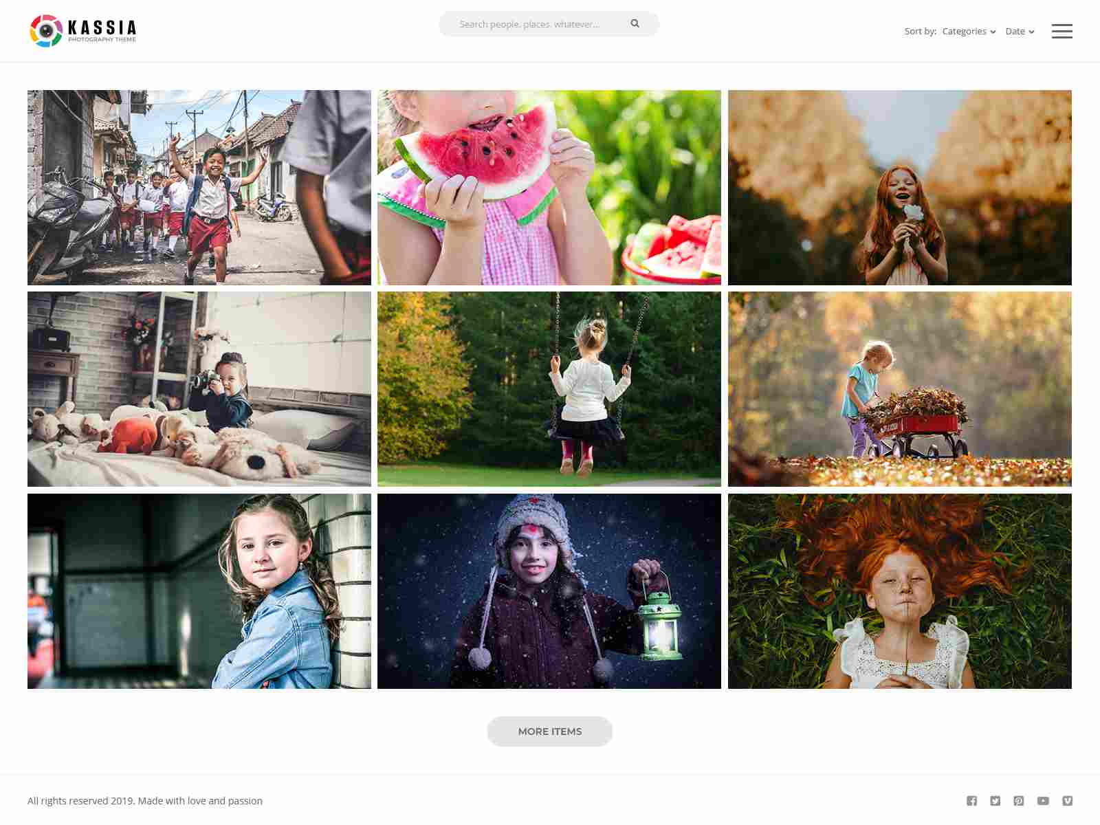 Kassia - Photography WordPress Theme